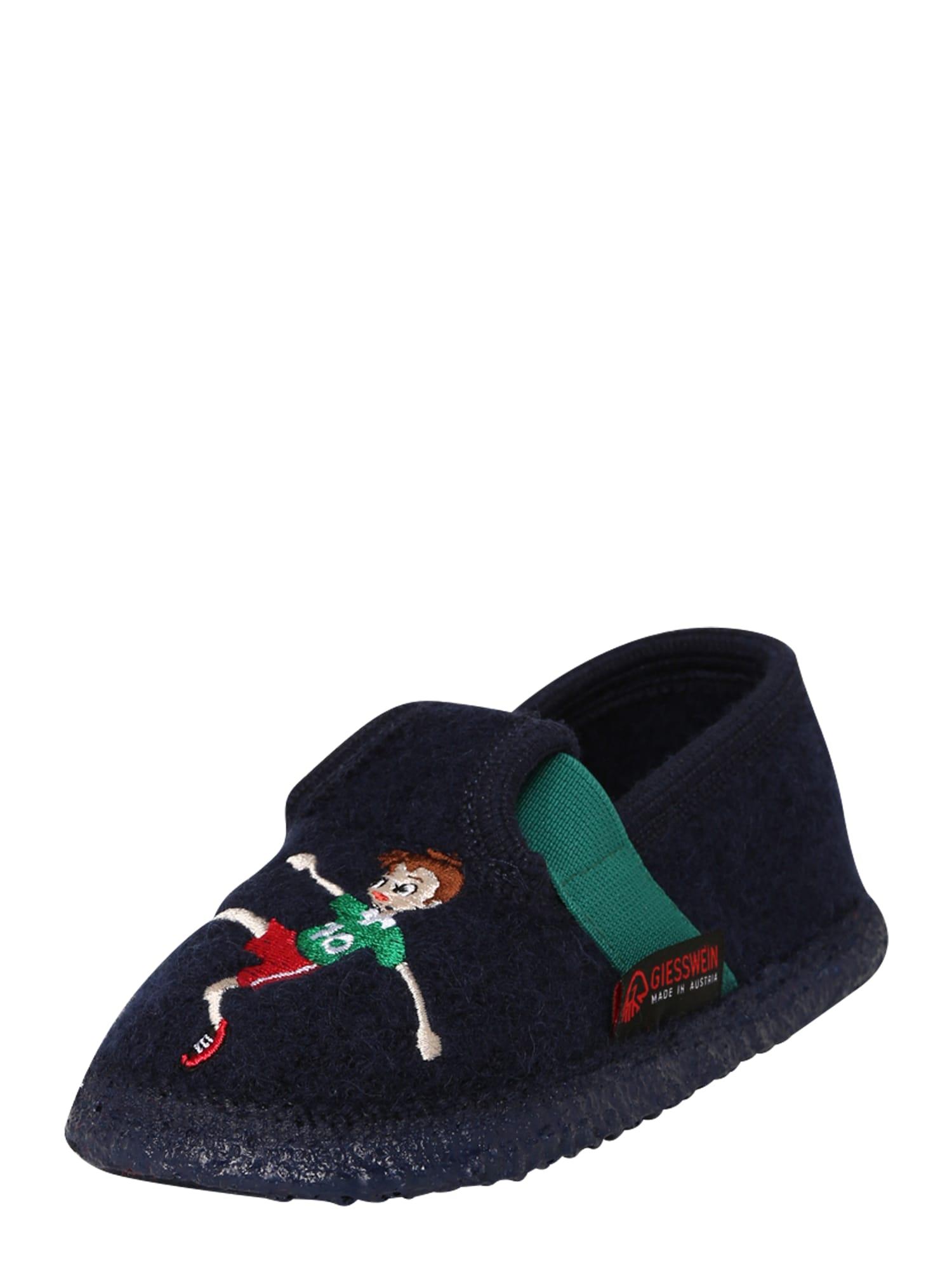 GIESSWEIN Pantofle 'Tensfeld'  zelená / tmavě modrá / světle červená / béžová / bílá / hnědá