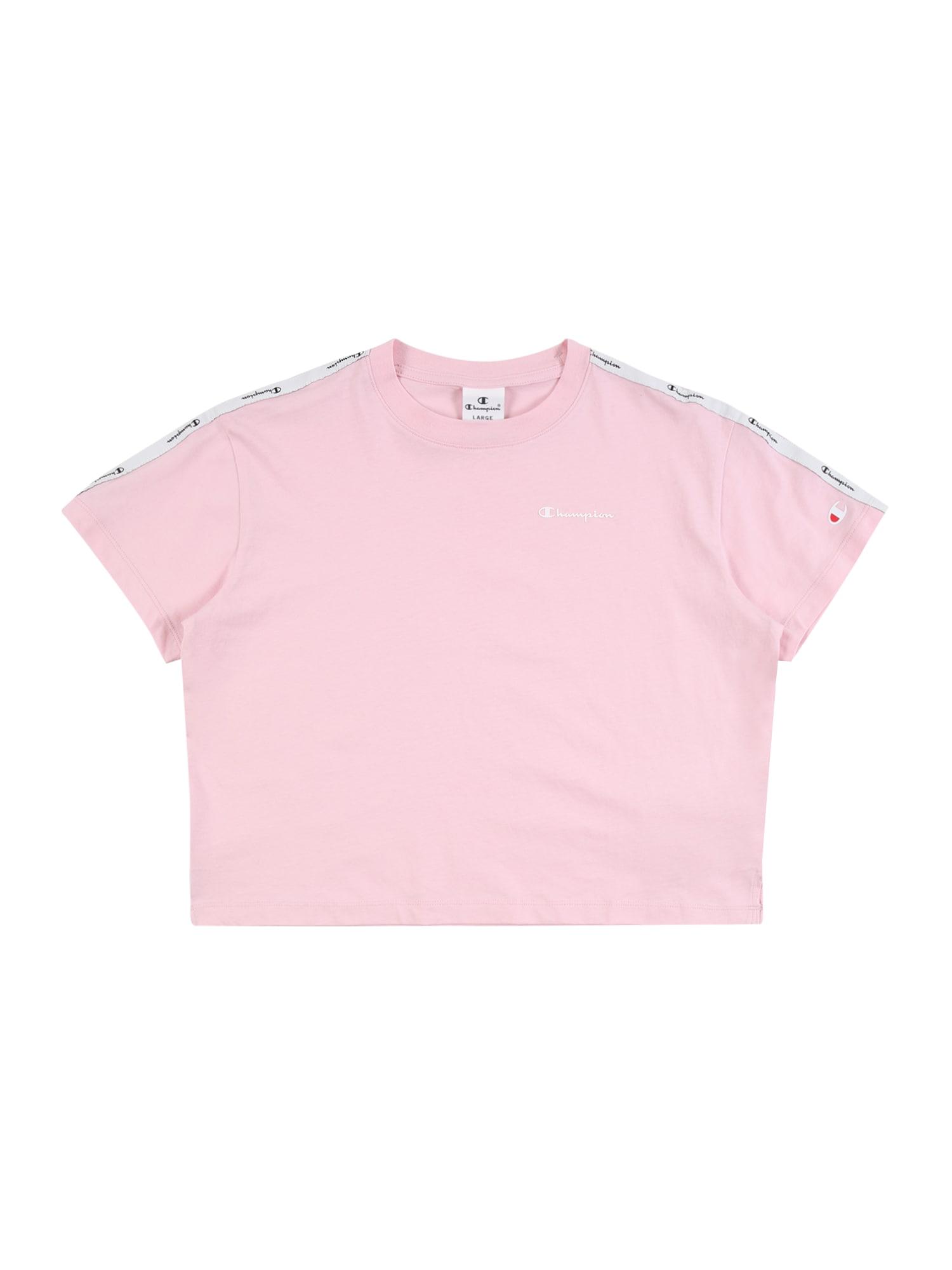 Champion Authentic Athletic Apparel Marškinėliai rožių spalva / juoda / balta