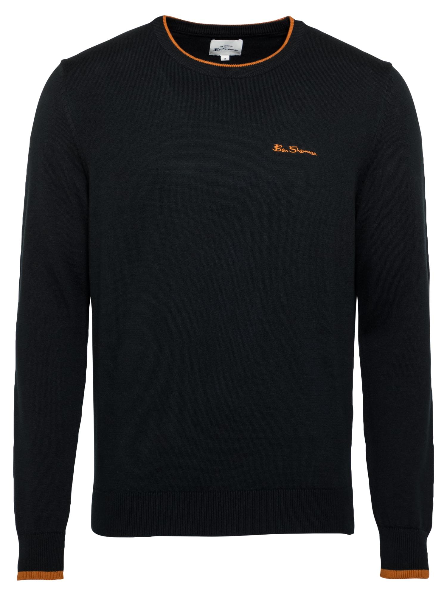 Ben Sherman Megztinis juoda / oranžinė