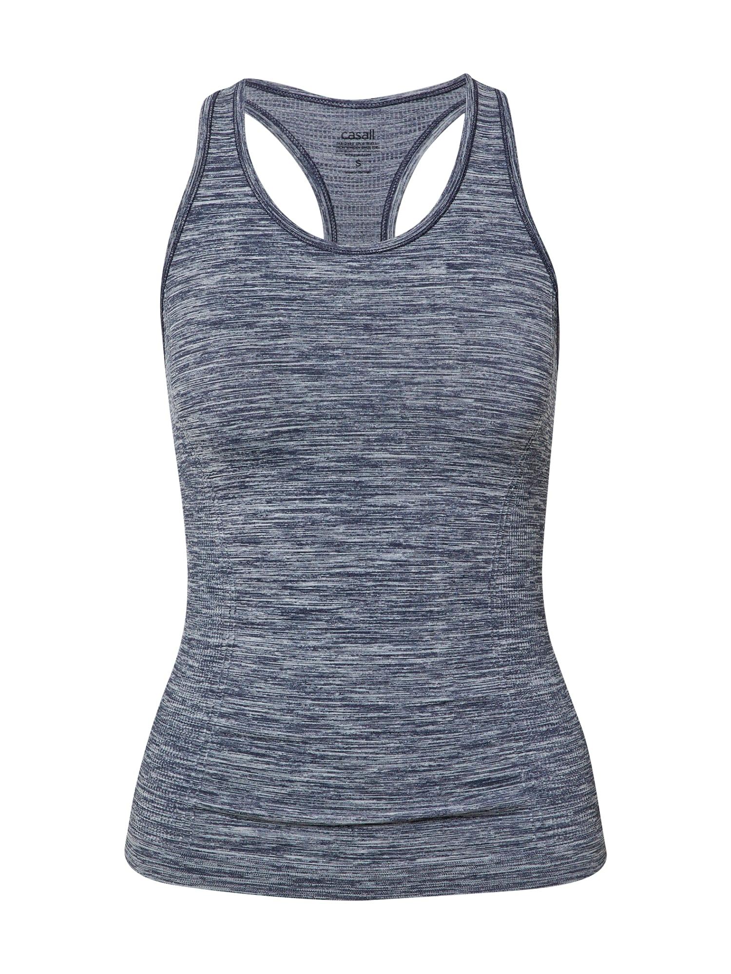 Casall Sportiniai marškinėliai be rankovių nakties mėlyna / šviesiai pilka