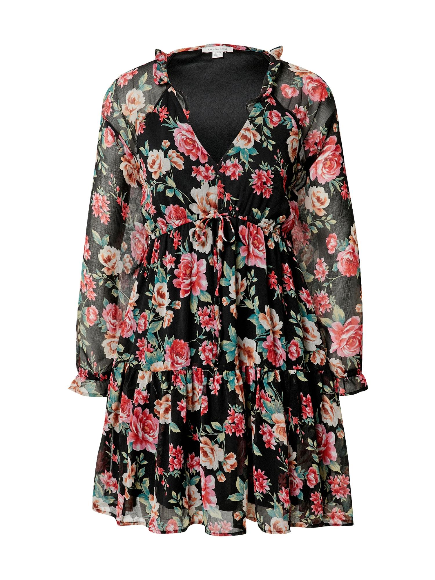 American Eagle Suknelė juoda / rožinė