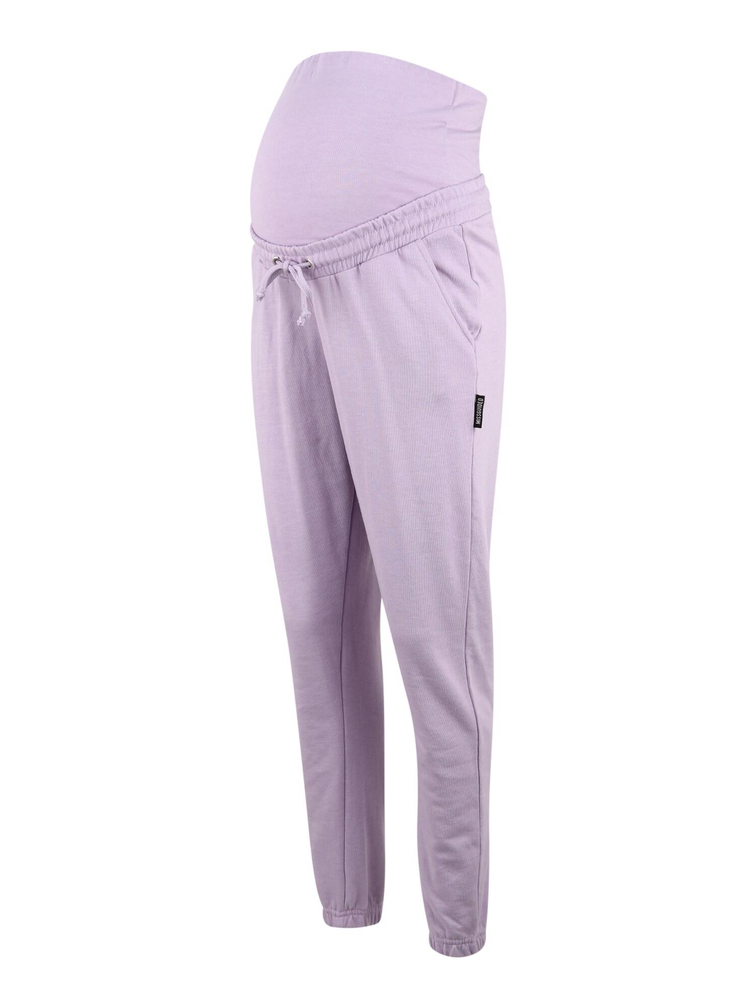 Missguided Maternity Kelnės šviesiai violetinė