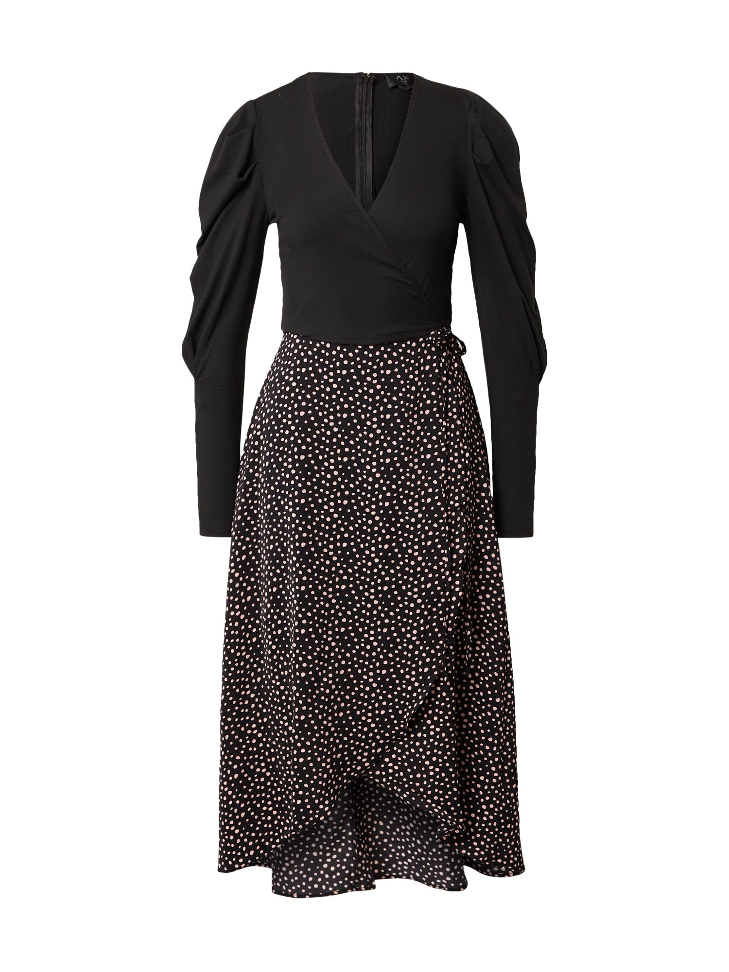 AX Paris Šaty  černá / bílá