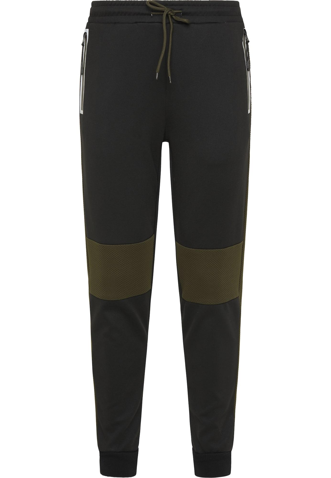 Mo SPORTS Kelnės juoda / alyvuogių spalva