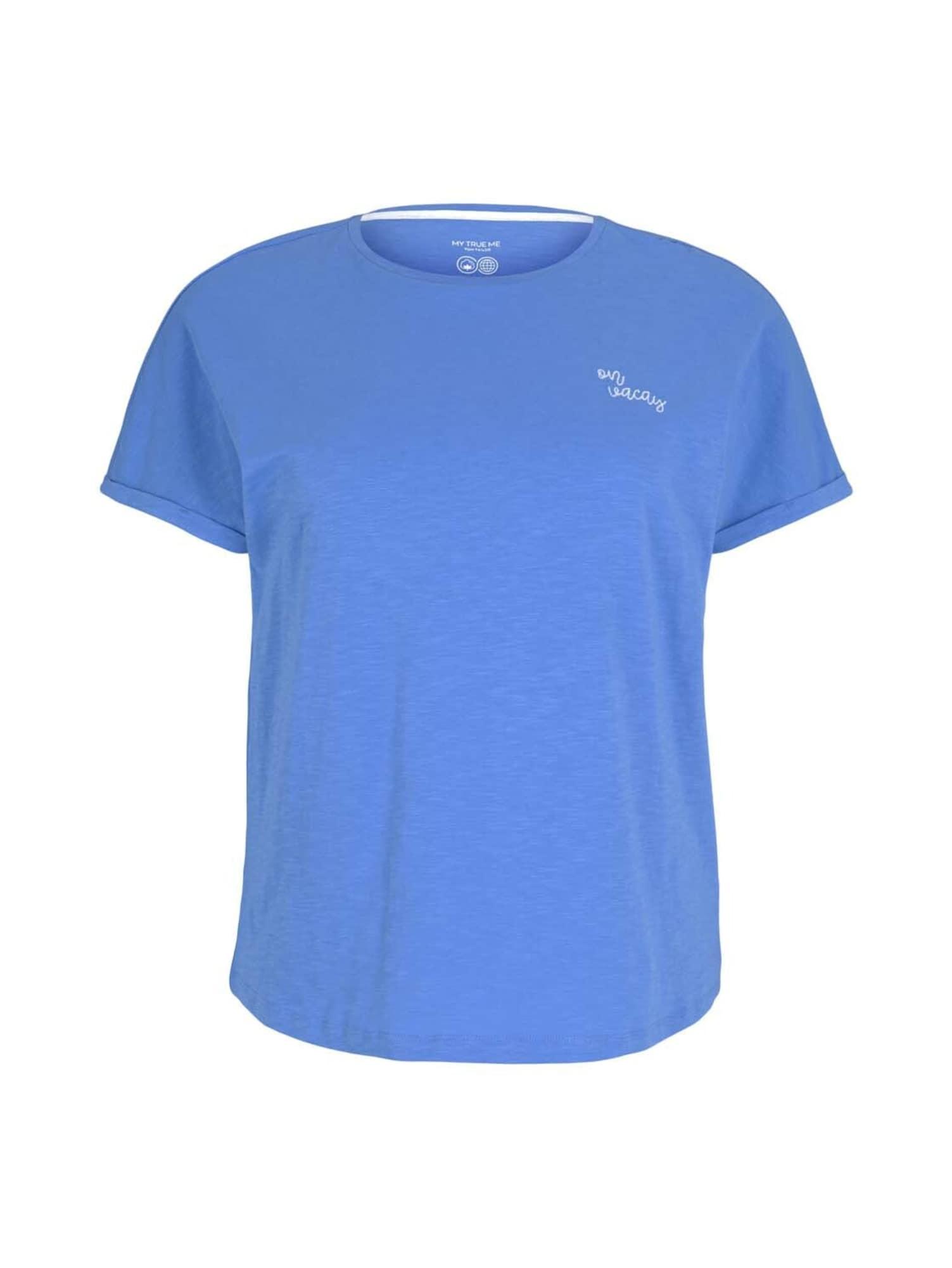 MY TRUE ME Marškinėliai dangaus žydra / balta