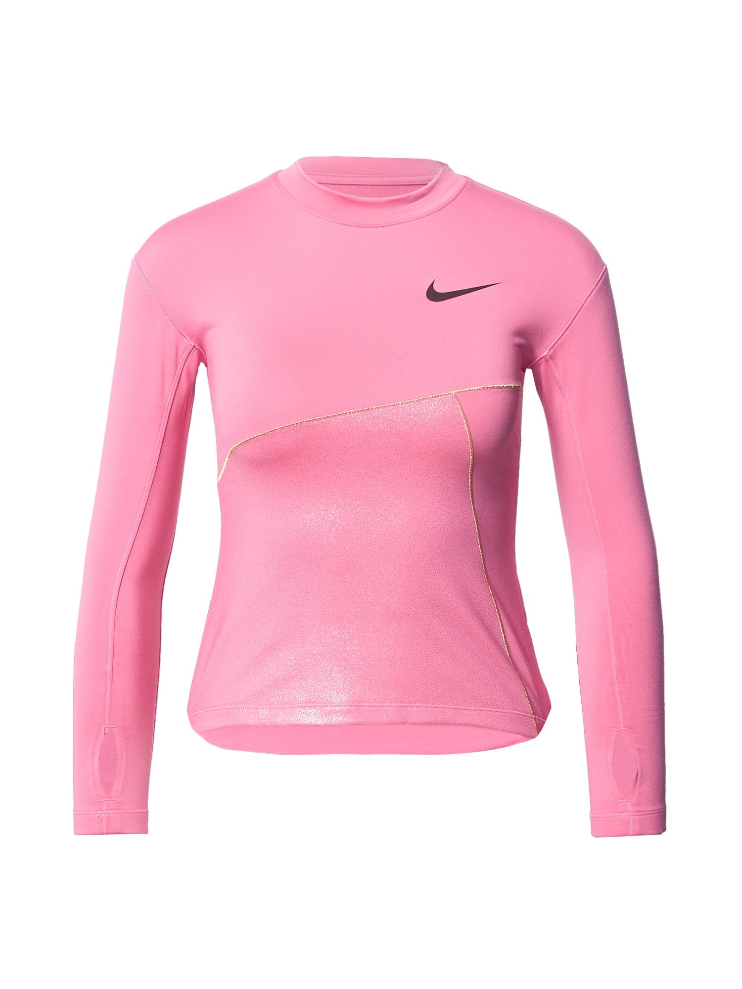 NIKE Sportiniai marškinėliai auksas / rožinė / juoda
