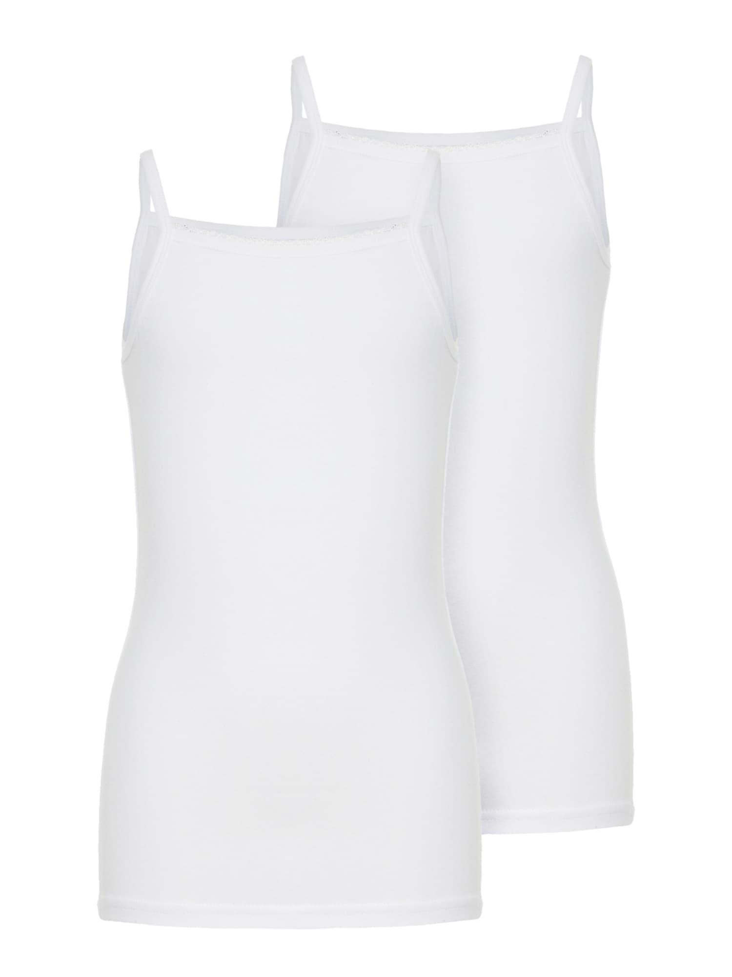 NAME IT Apatiniai marškinėliai balta