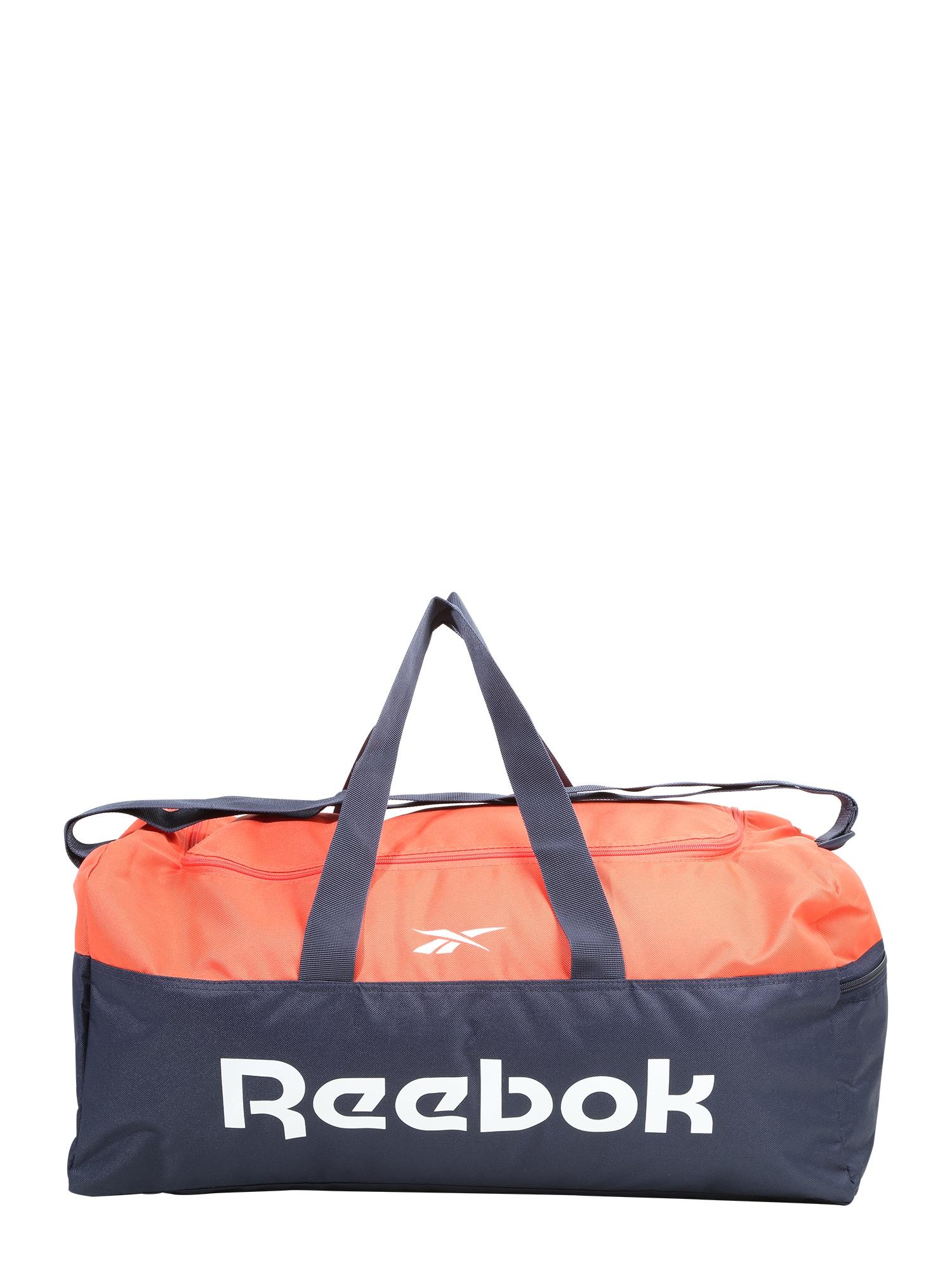 REEBOK Sportinis krepšys tamsiai mėlyna / oranžinė-raudona / balta