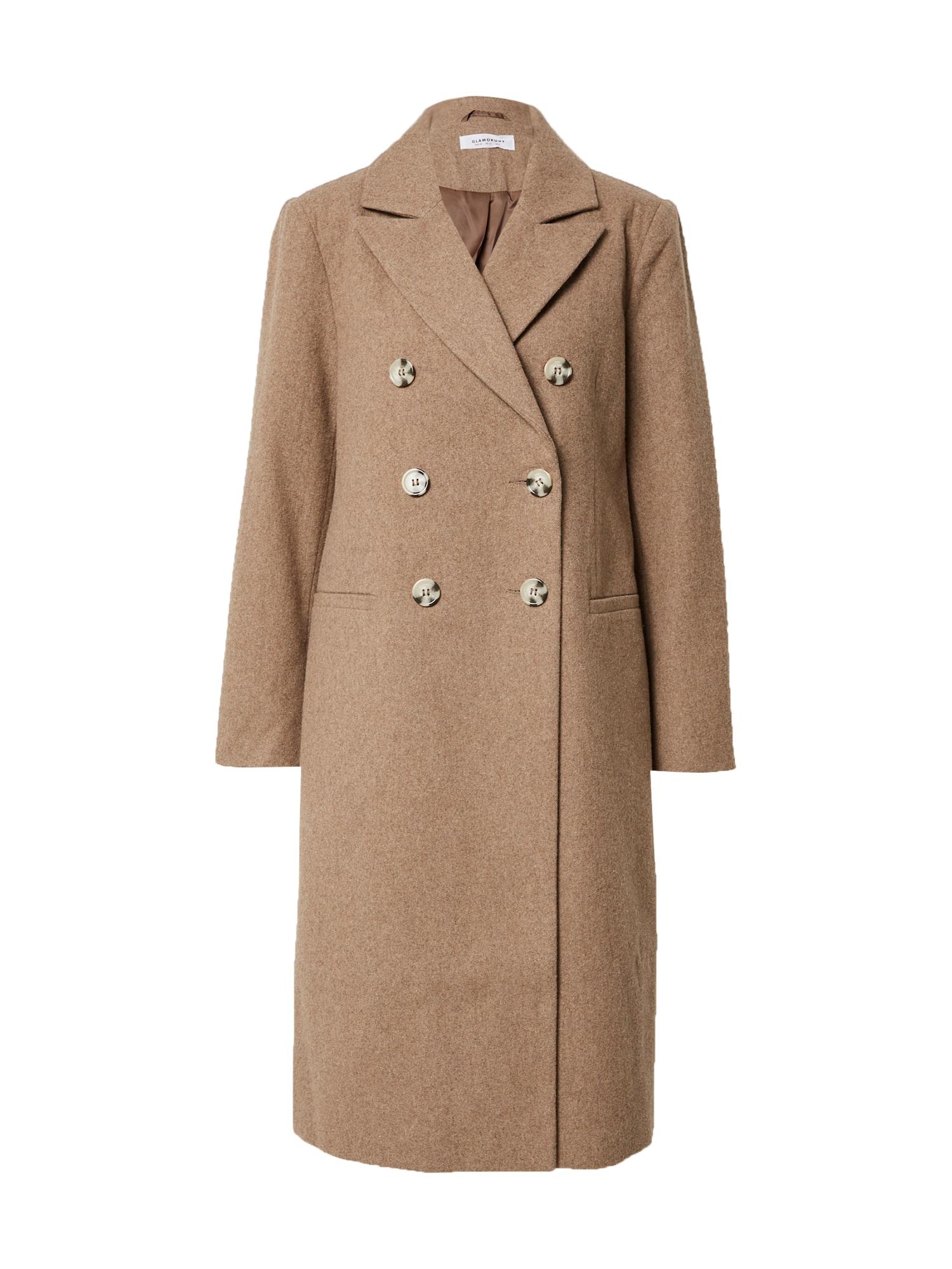 GLAMOROUS Demisezoninis paltas gelsvai pilka spalva