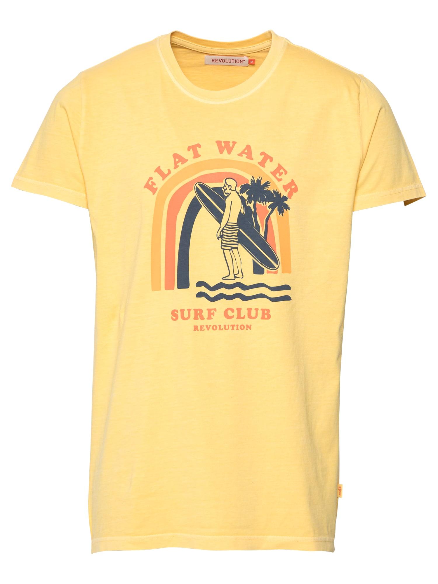 Revolution Marškinėliai geltona / aukso geltonumo spalva / tamsiai mėlyna jūros spalva