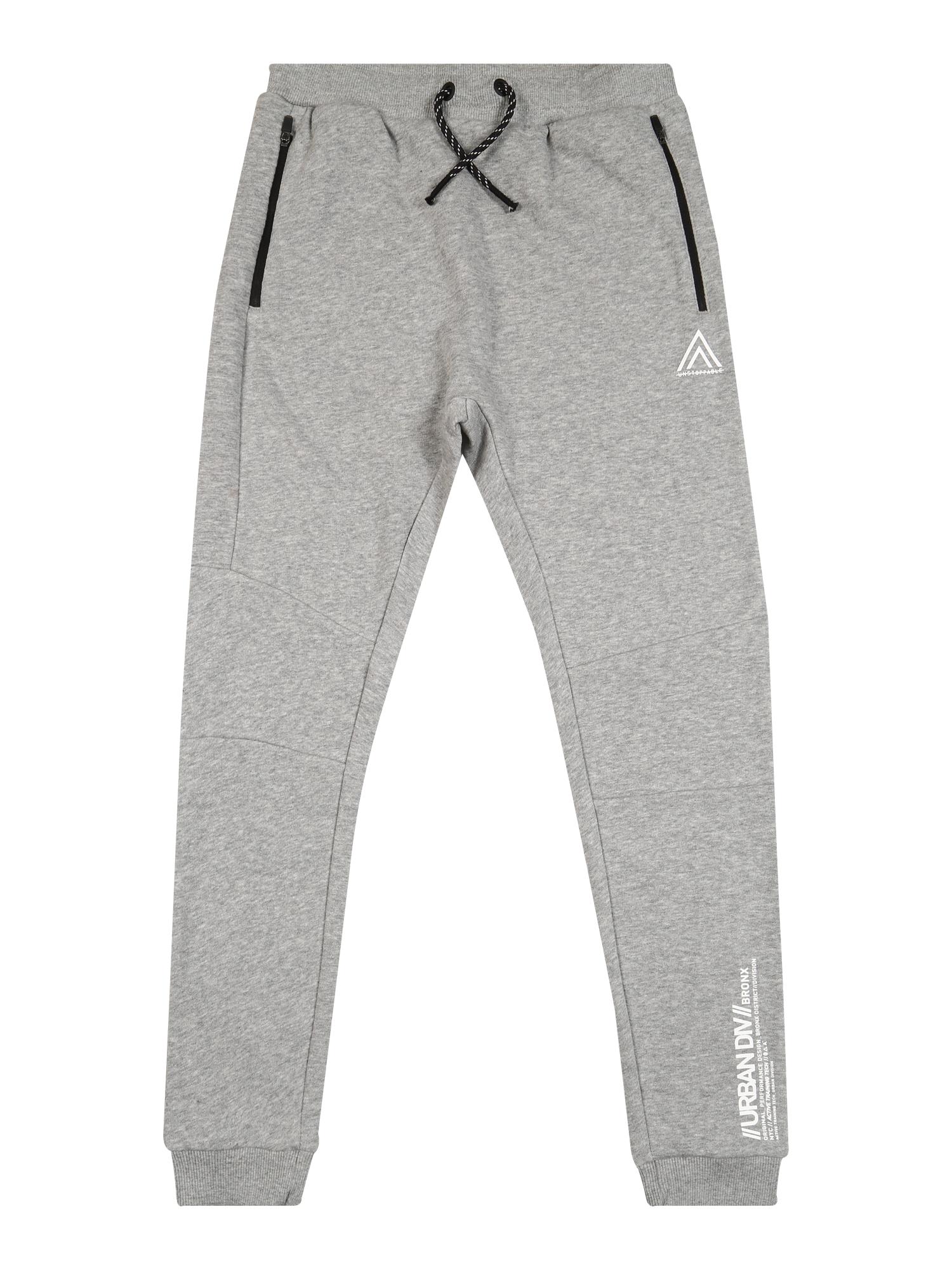 NAME IT Nohavice 'NAMIR'  sivá melírovaná / biela / čierna