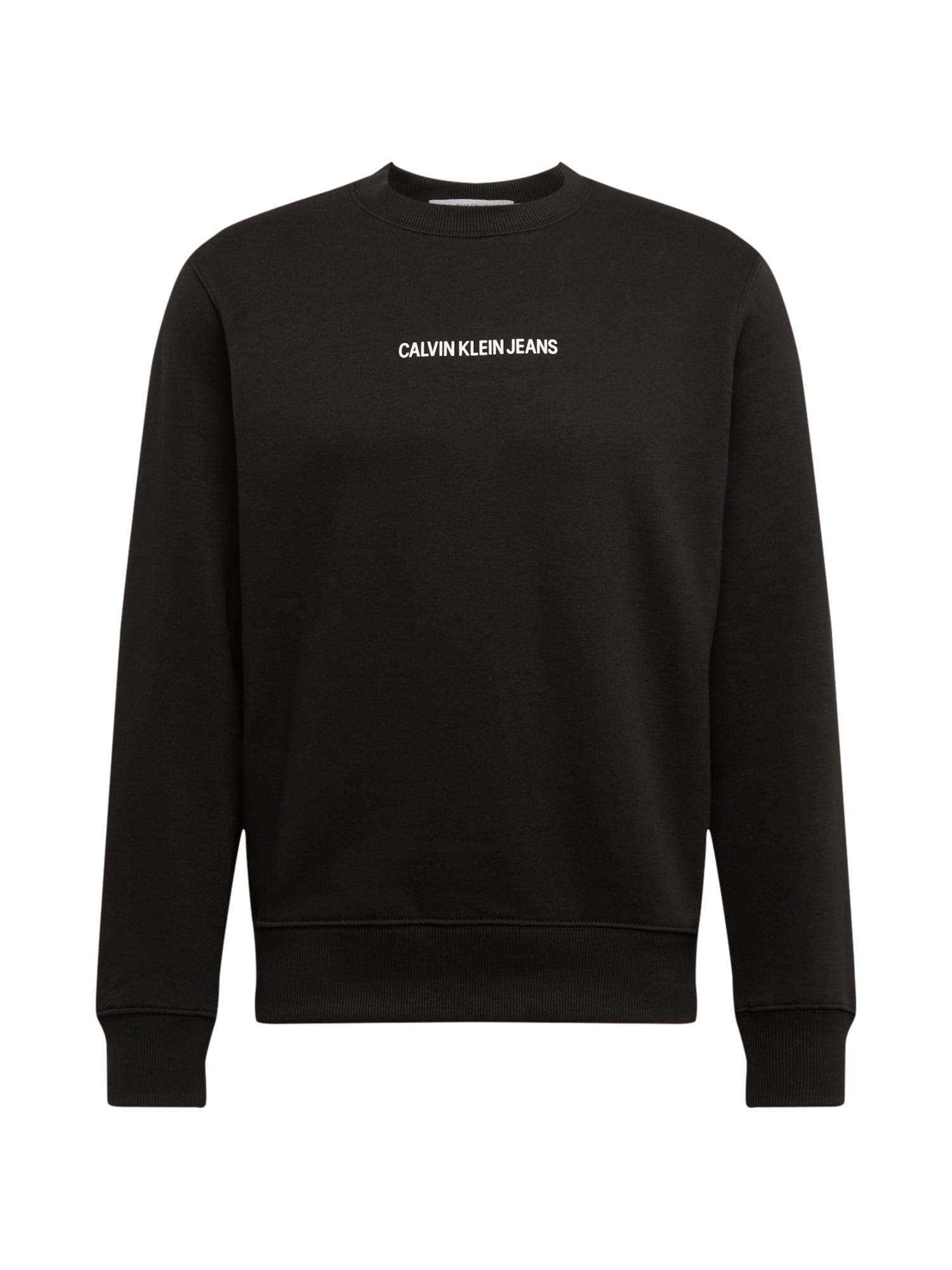 Calvin Klein Jeans Mikina  černá
