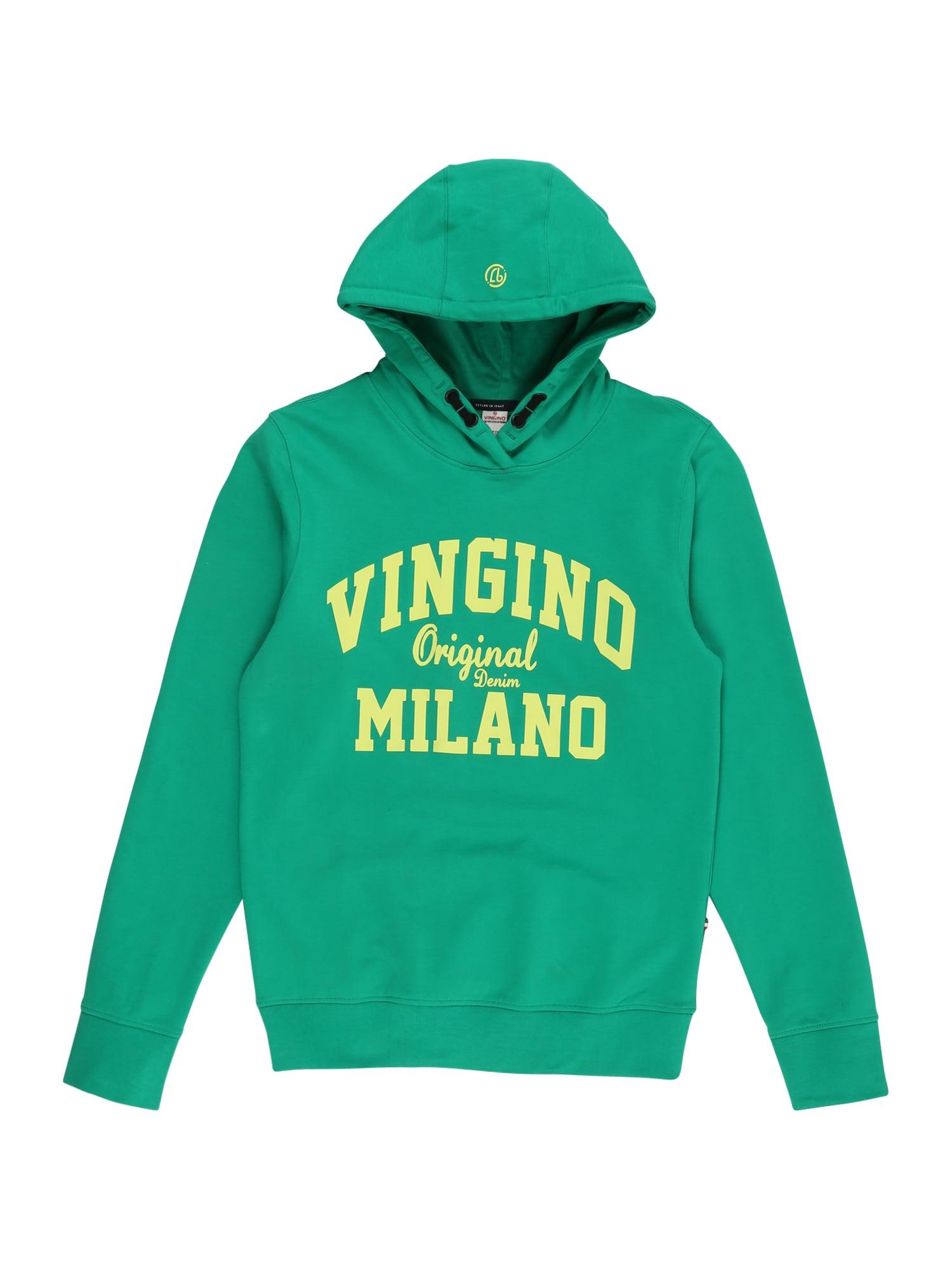VINGINO Mikina  zelená / žlutá