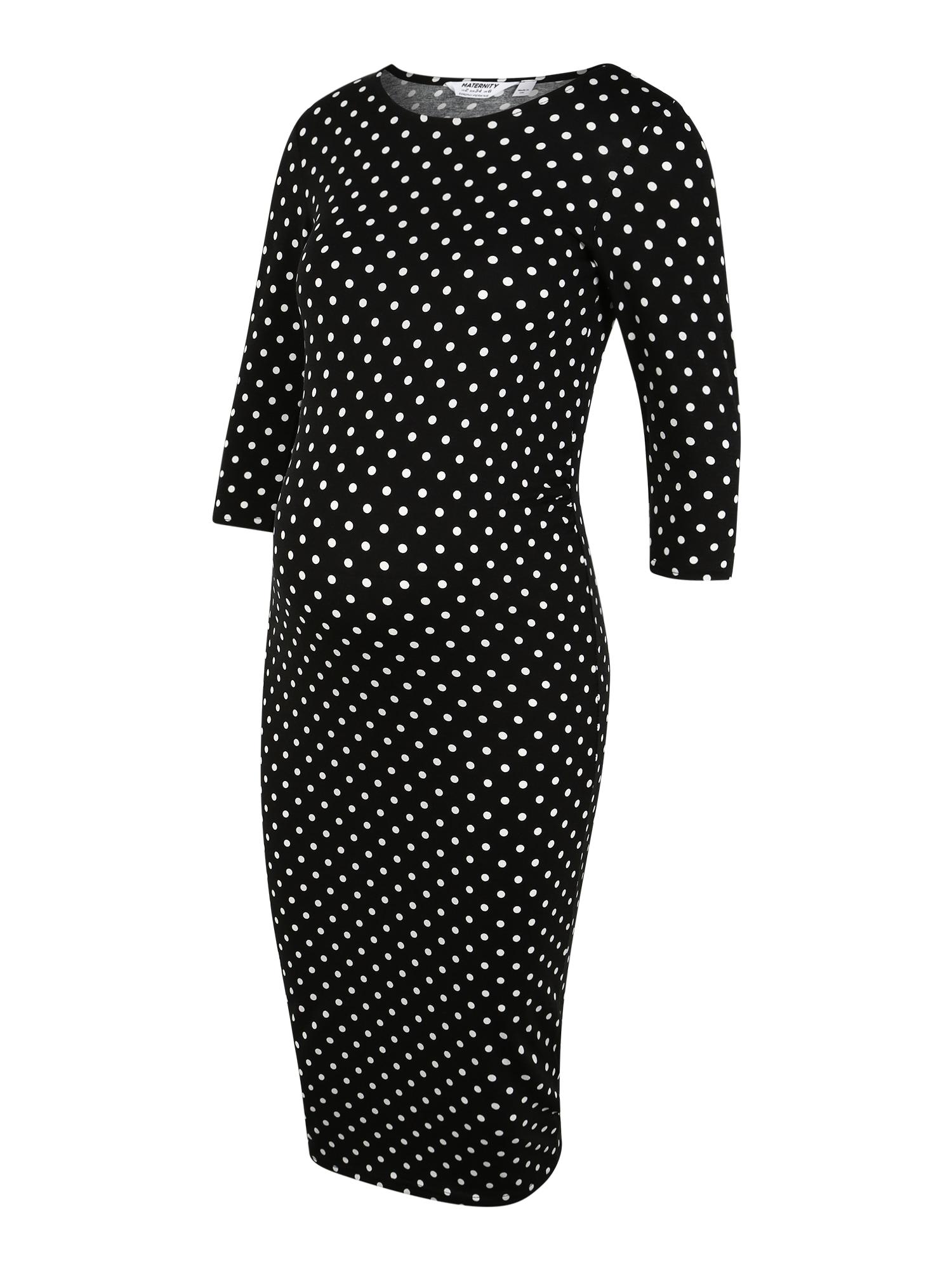 Dorothy Perkins Maternity Suknelė juoda / balta