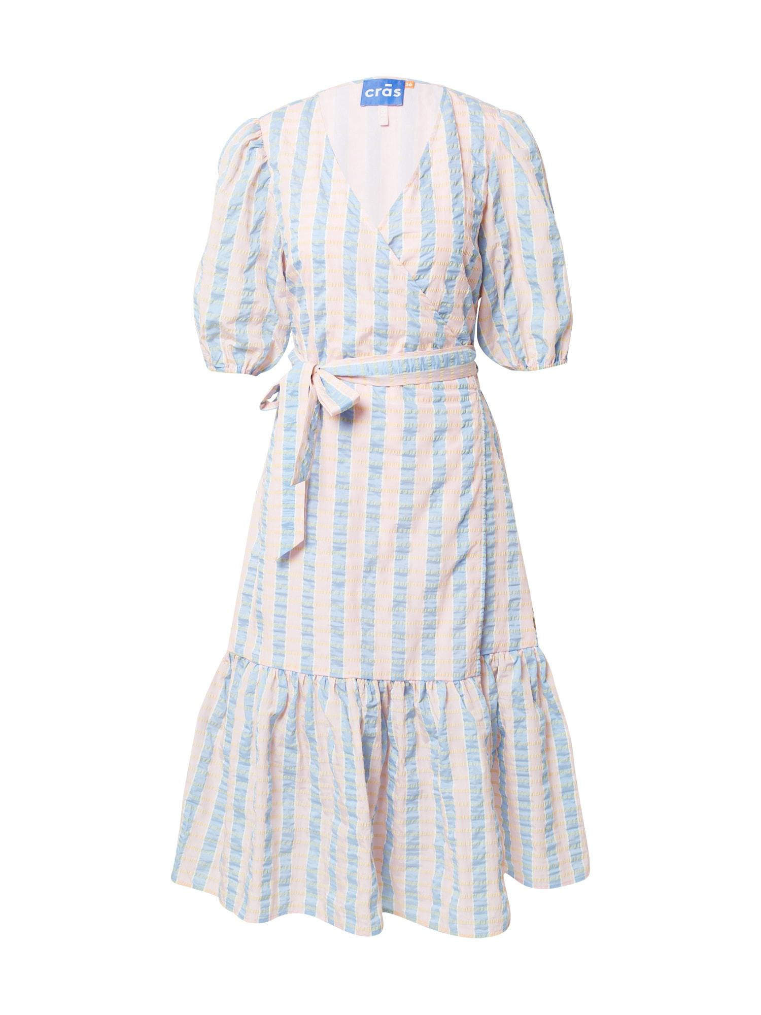 Crās Suknelė šviesiai mėlyna / pudros spalva / balta / geltona