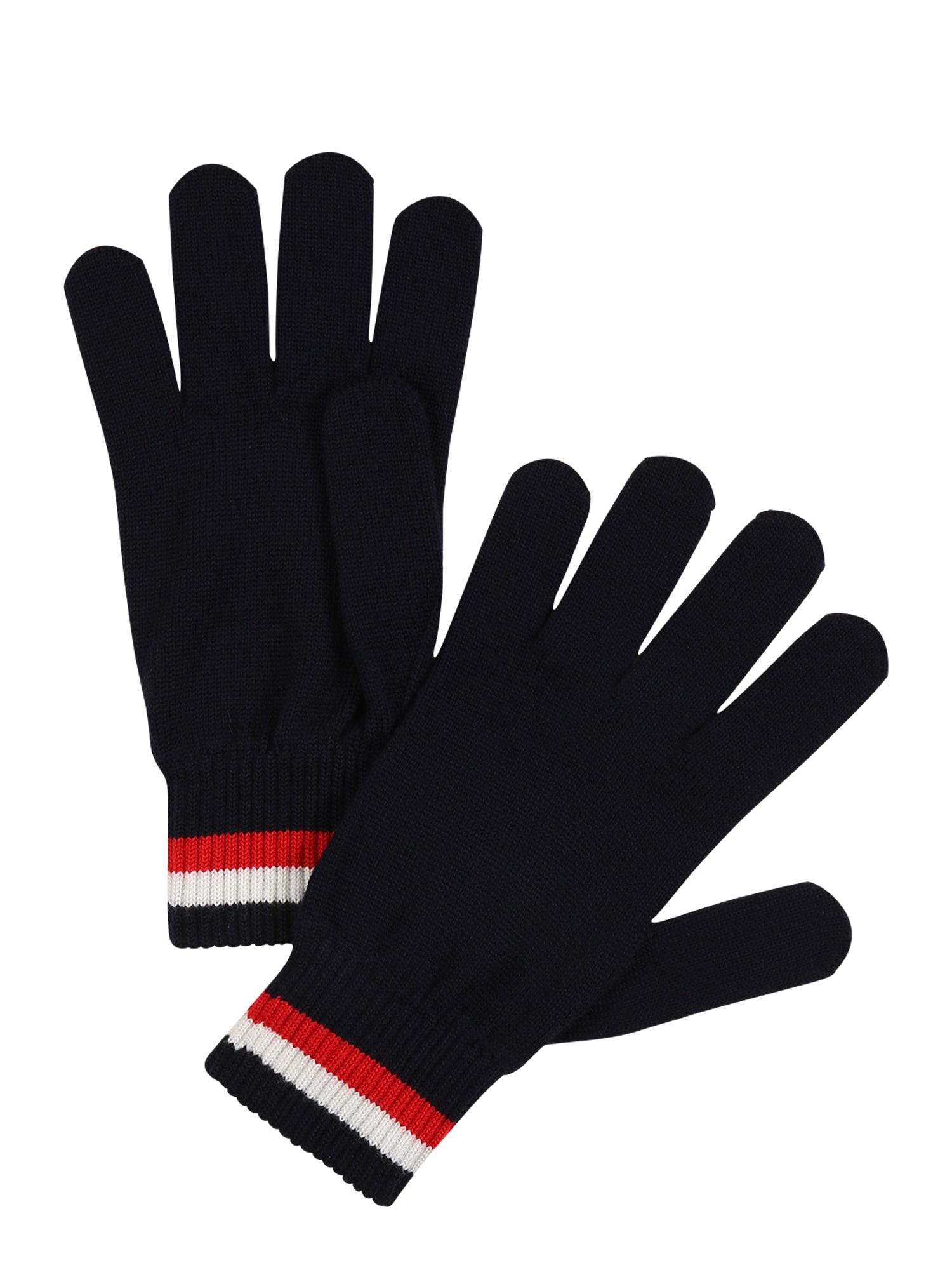 TOMMY HILFIGER Prstové rukavice 'CORPORATE'  modrá / bílá / červená
