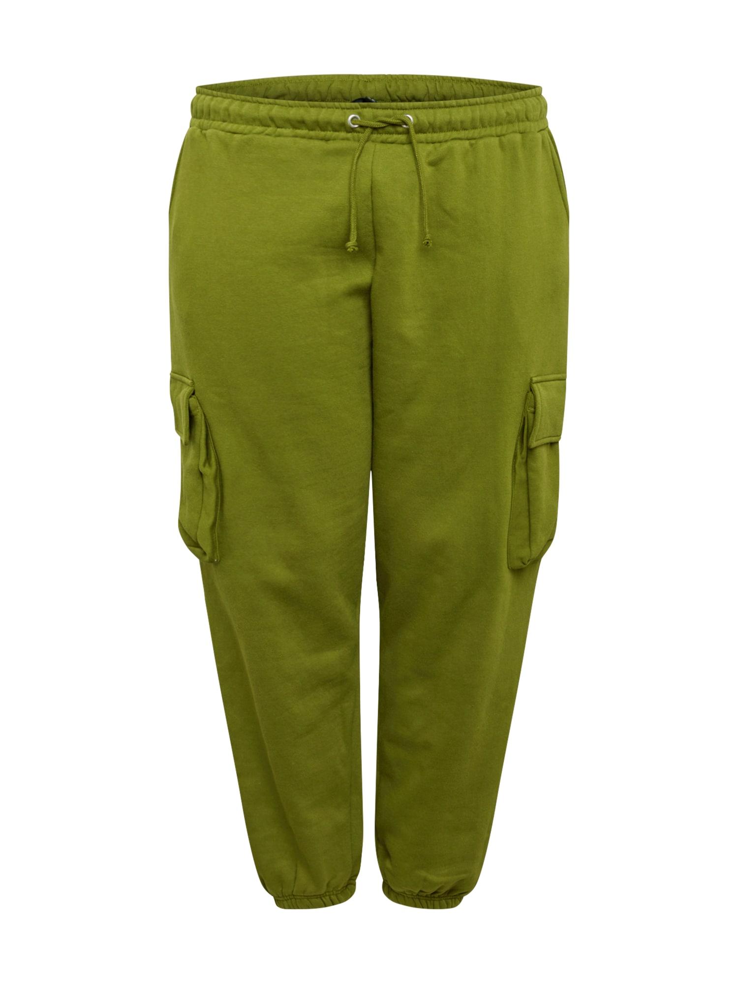 Missguided Plus Laisvo stiliaus kelnės žalia