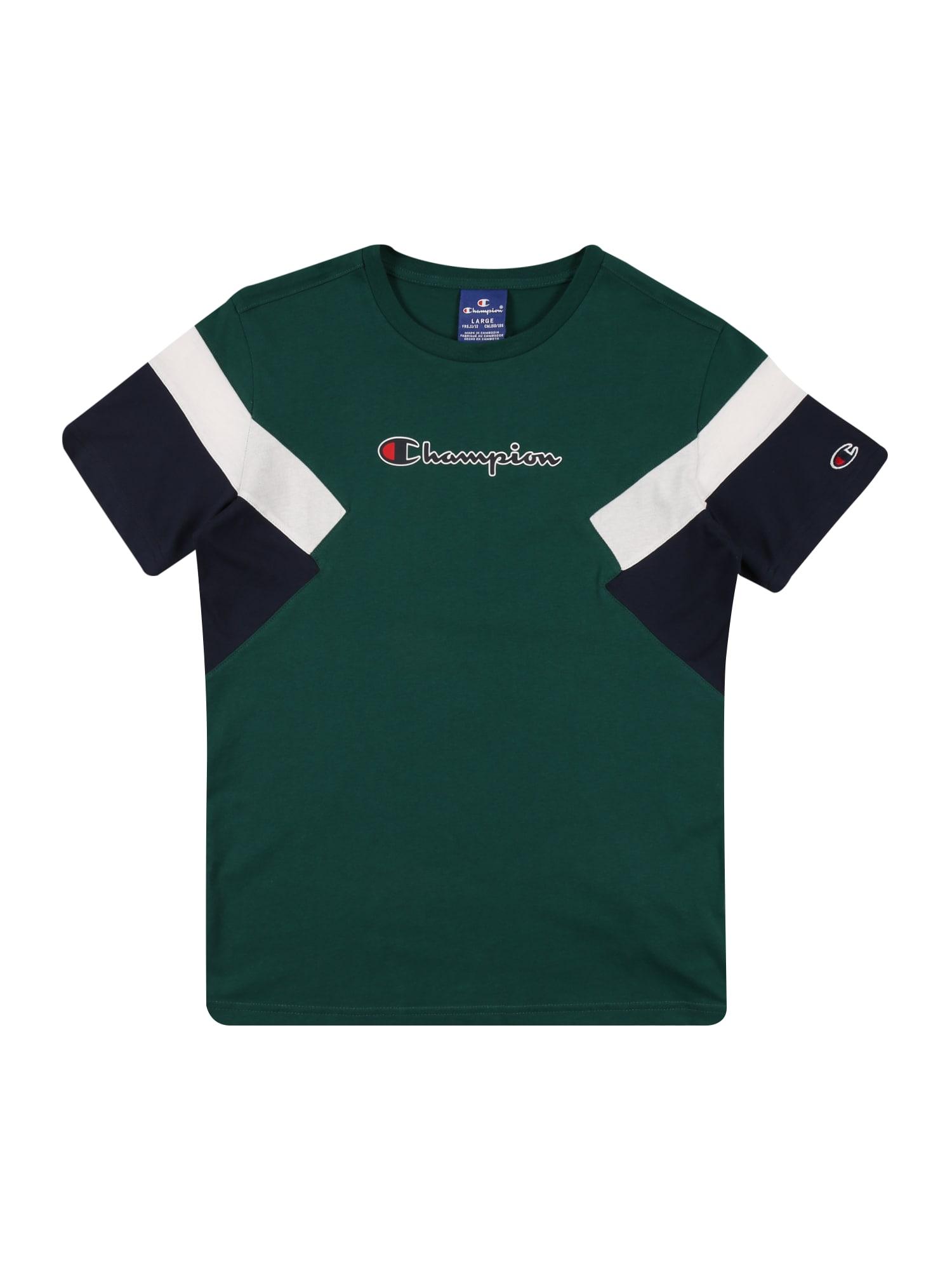 Champion Authentic Athletic Apparel Marškinėliai įdegio spalva / mėlyna / balta