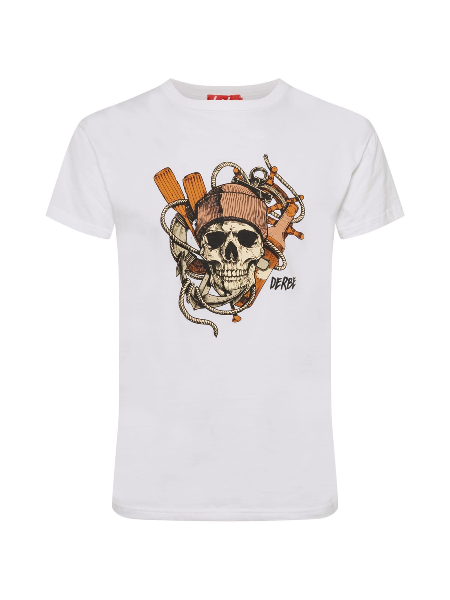 Derbe Marškinėliai balta / mišrios spalvos