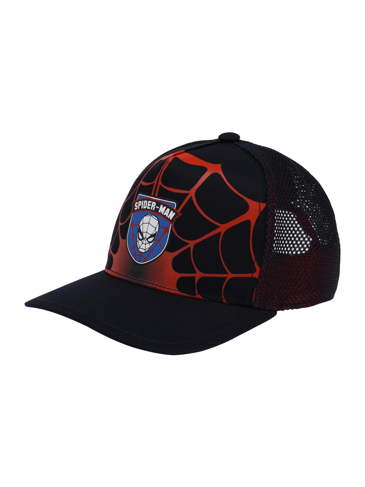 ADIDAS PERFORMANCE Sportinė kepurė 'SPIDERMAN' juoda / raudona / mėlyna / balta