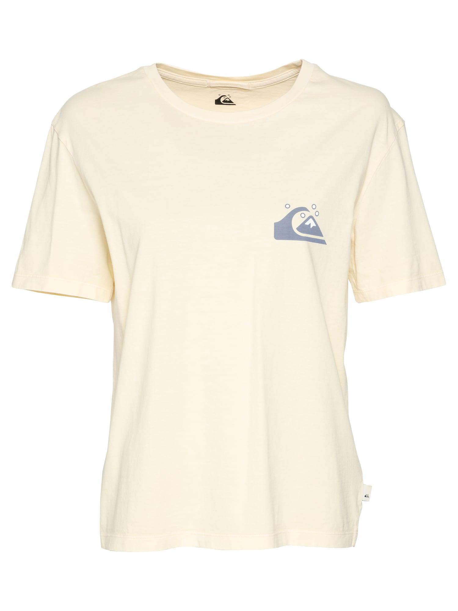 QUIKSILVER Marškinėliai pastelinė geltona / mėlyna dūmų spalva