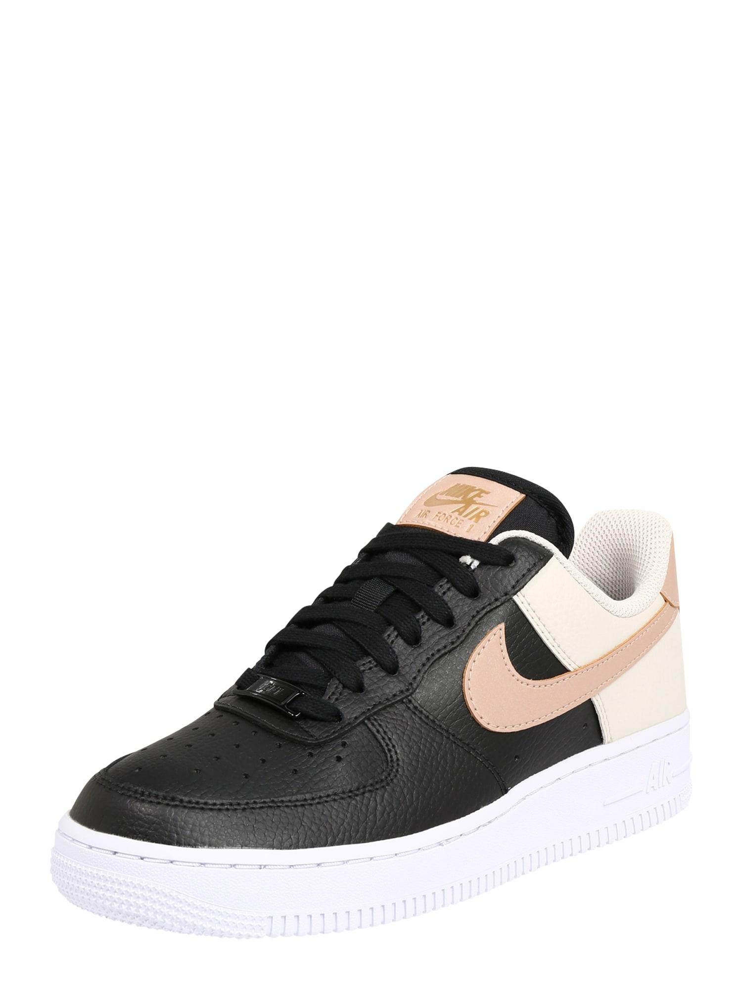 Nike Sportswear Tenisky 'Air Force 1 '07'  béžová / černá / pudrová