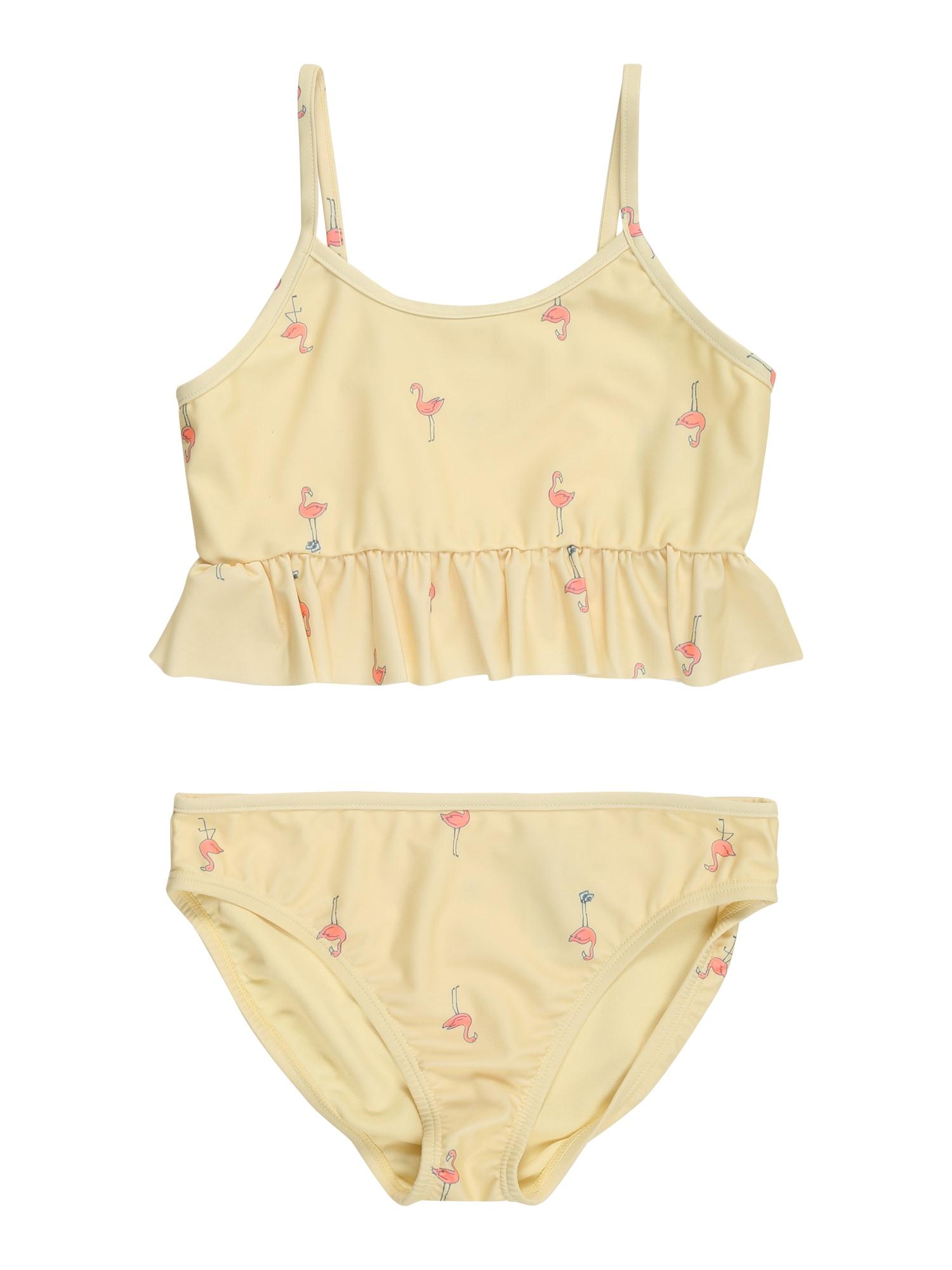 GAP Bikinis šviesiai geltona / rožinė / juoda