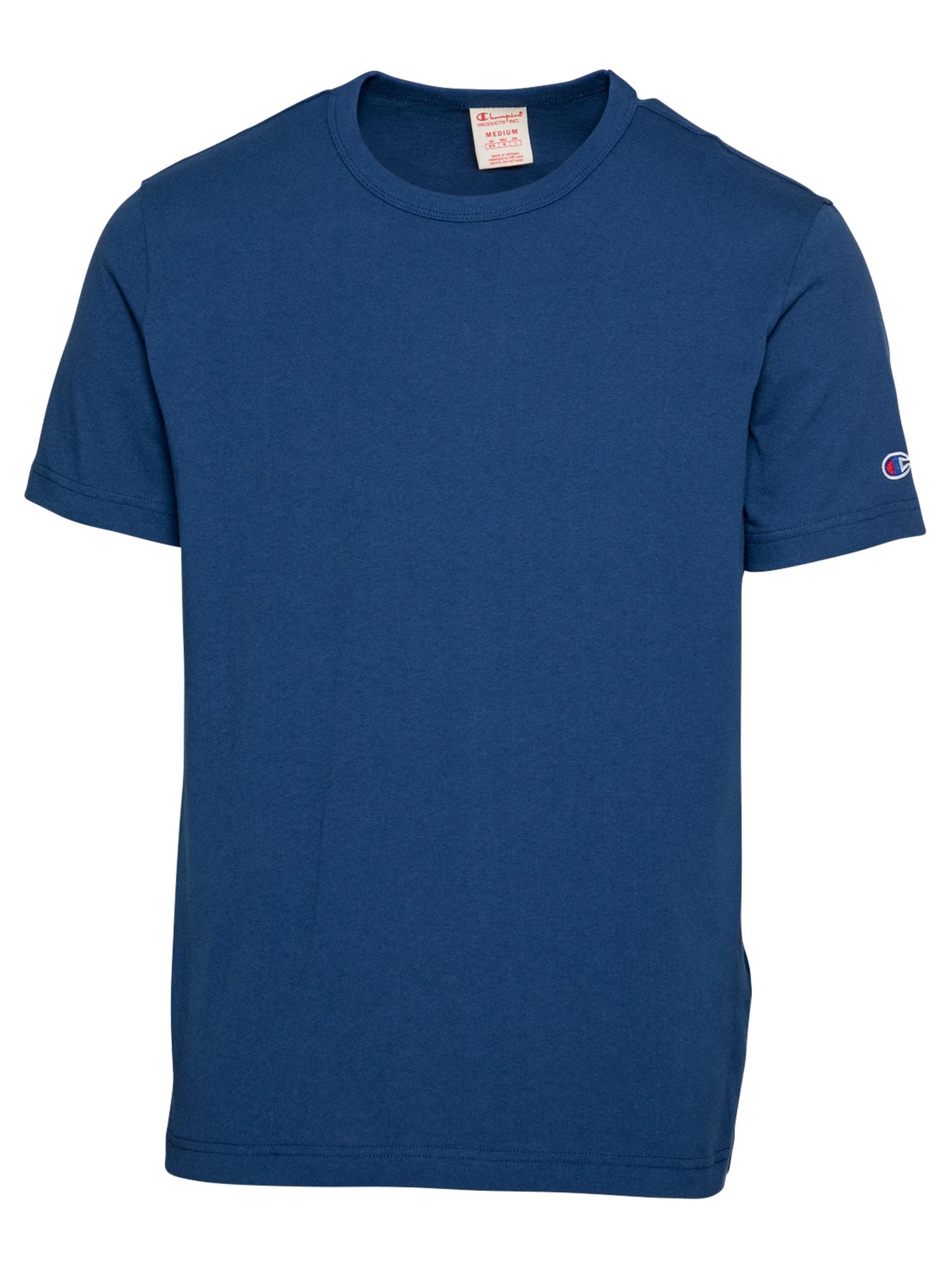 Champion Reverse Weave Marškinėliai balta / tamsiai mėlyna