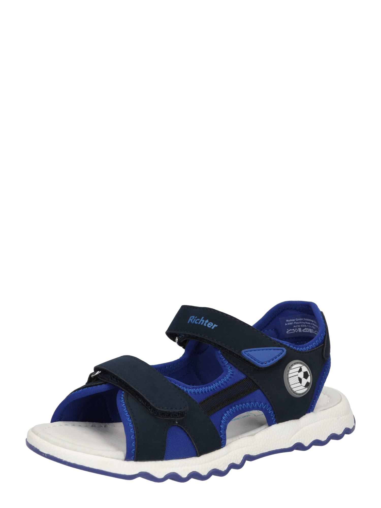 RICHTER Atviri batai mėlyna / tamsiai mėlyna
