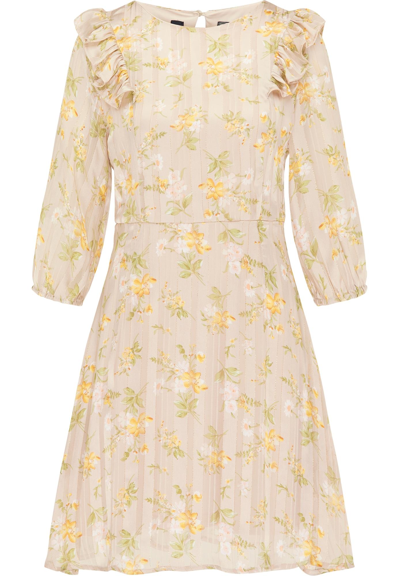 DreiMaster Vintage Vasarinė suknelė smėlio / geltona / žalia