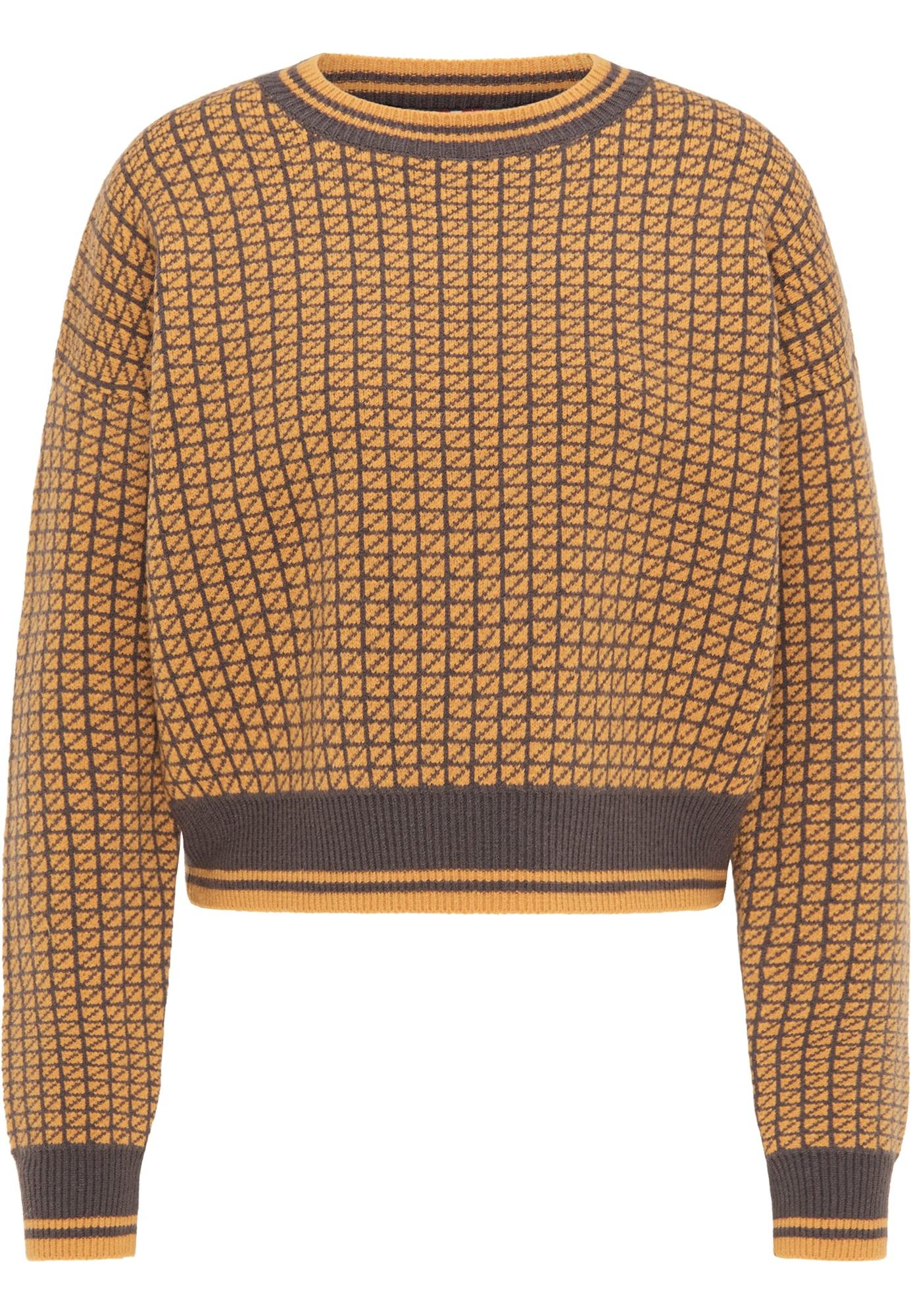 myMo ROCKS Megztinis garstyčių spalva / slyvų spalva