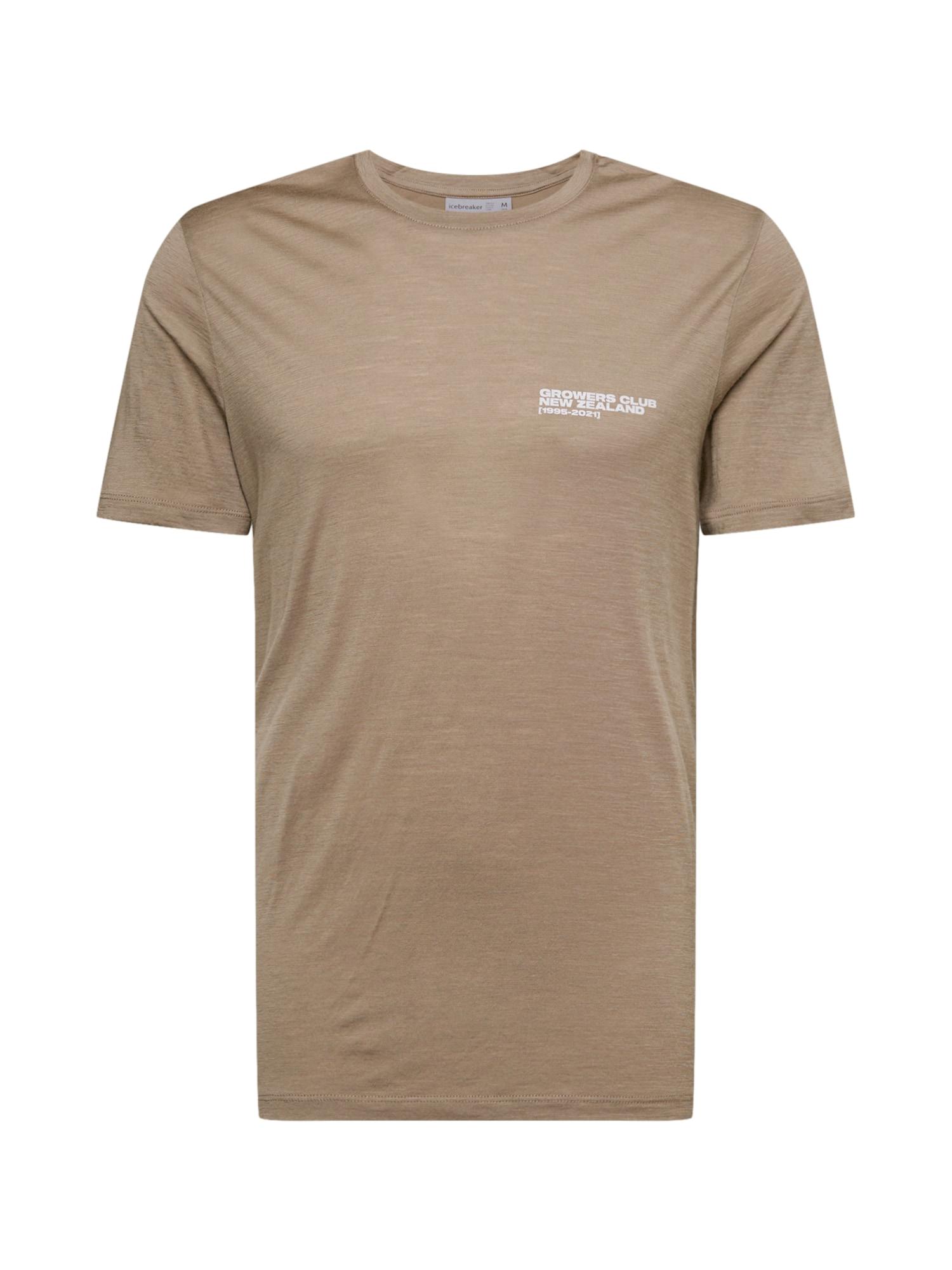 ICEBREAKER Sportiniai marškinėliai šviesiai ruda / balta