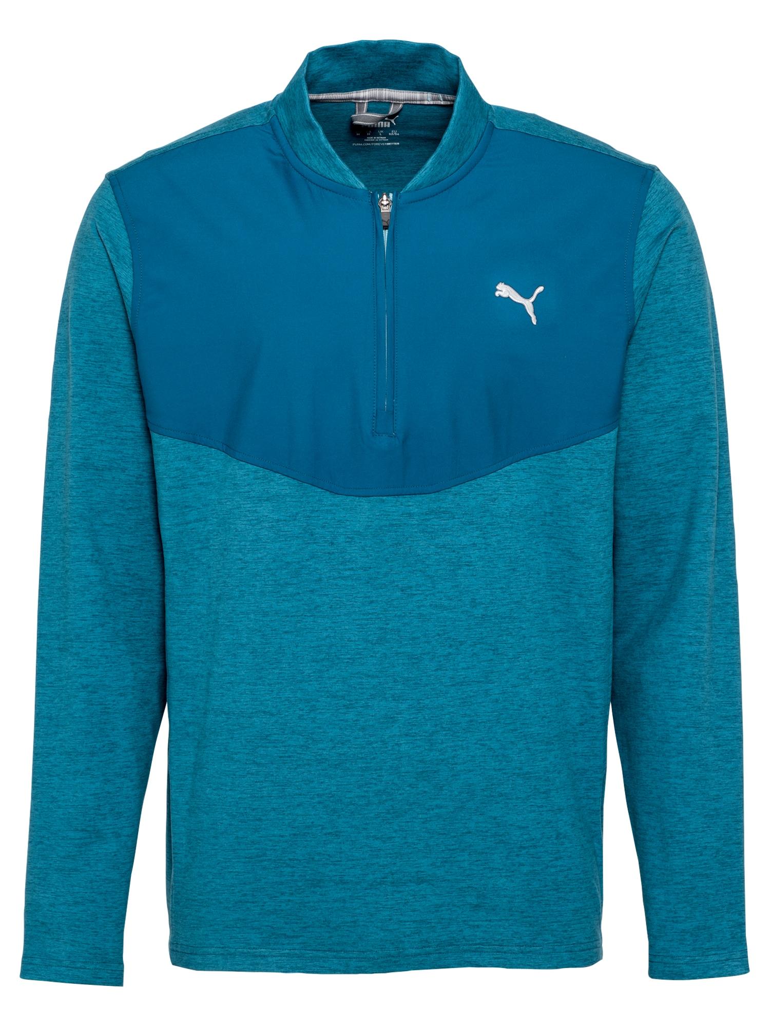PUMA Sportinio tipo megztinis mėlyna / balta