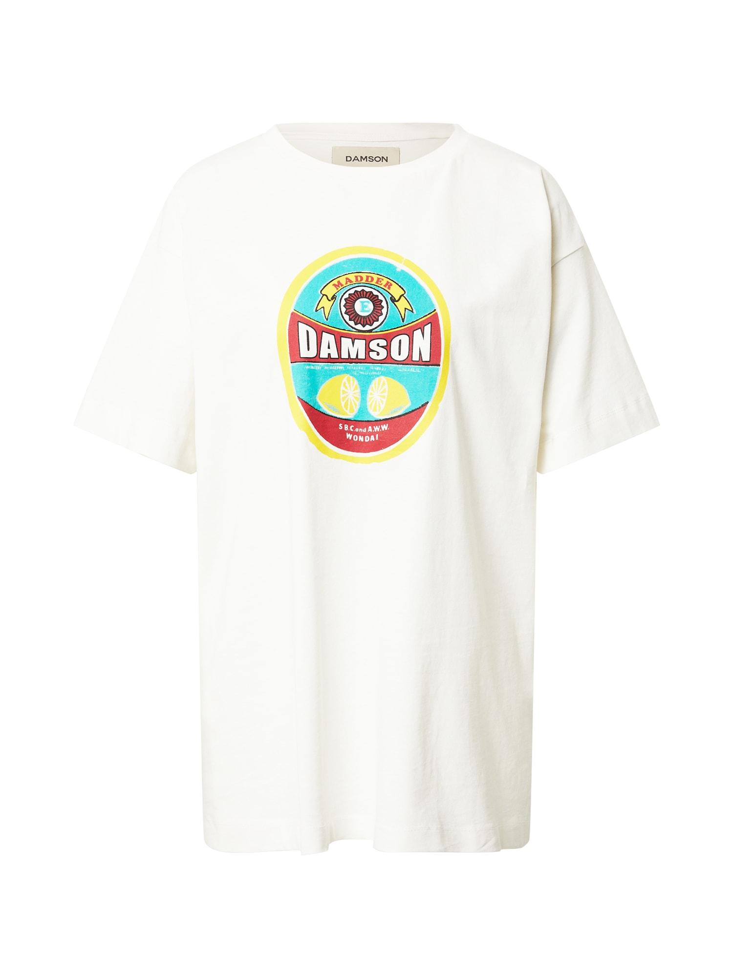Damson Madder Marškinėliai balta / raudona / geltona / turkio spalva