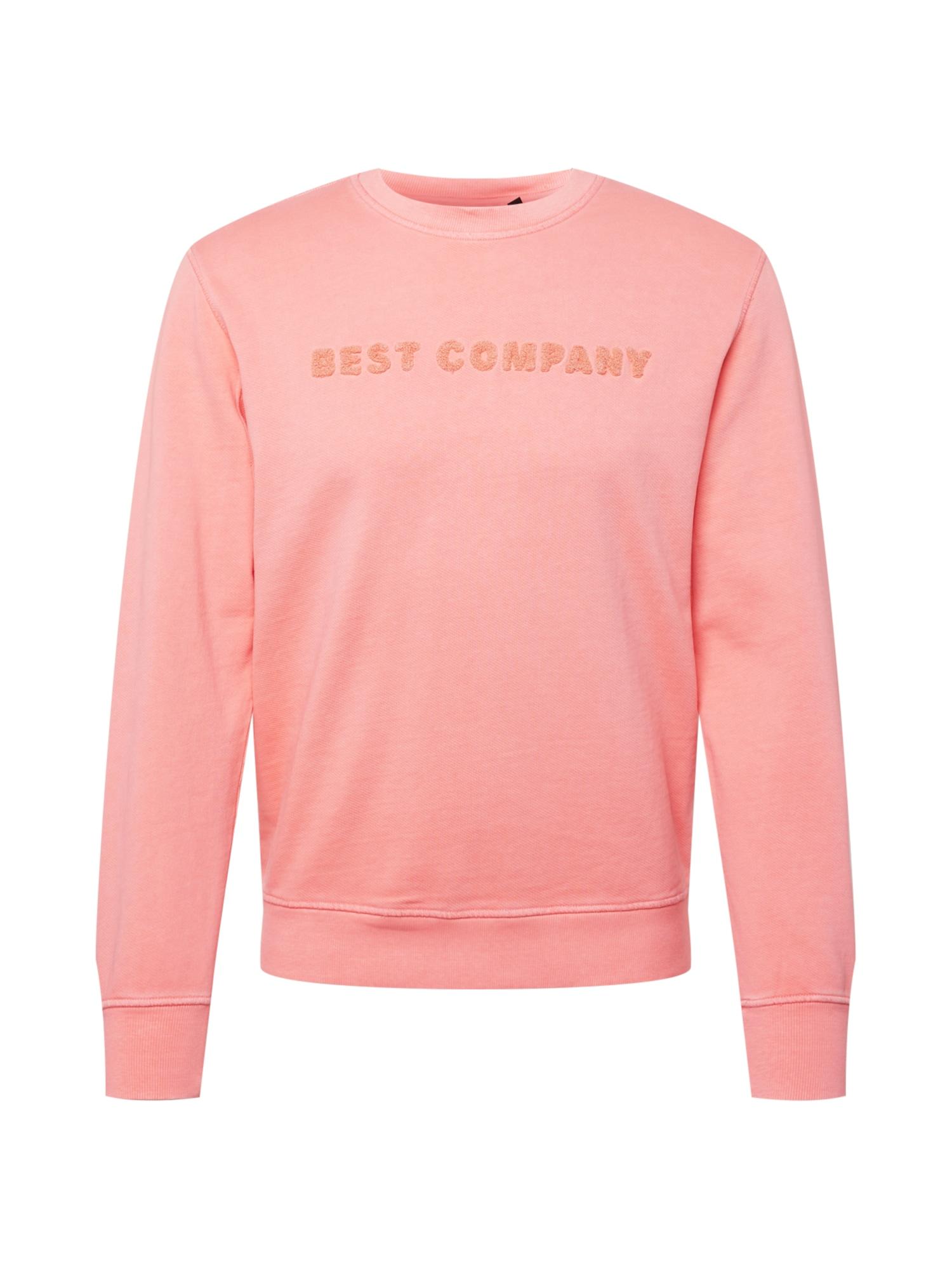 Best Company Megztinis be užsegimo rožių spalva