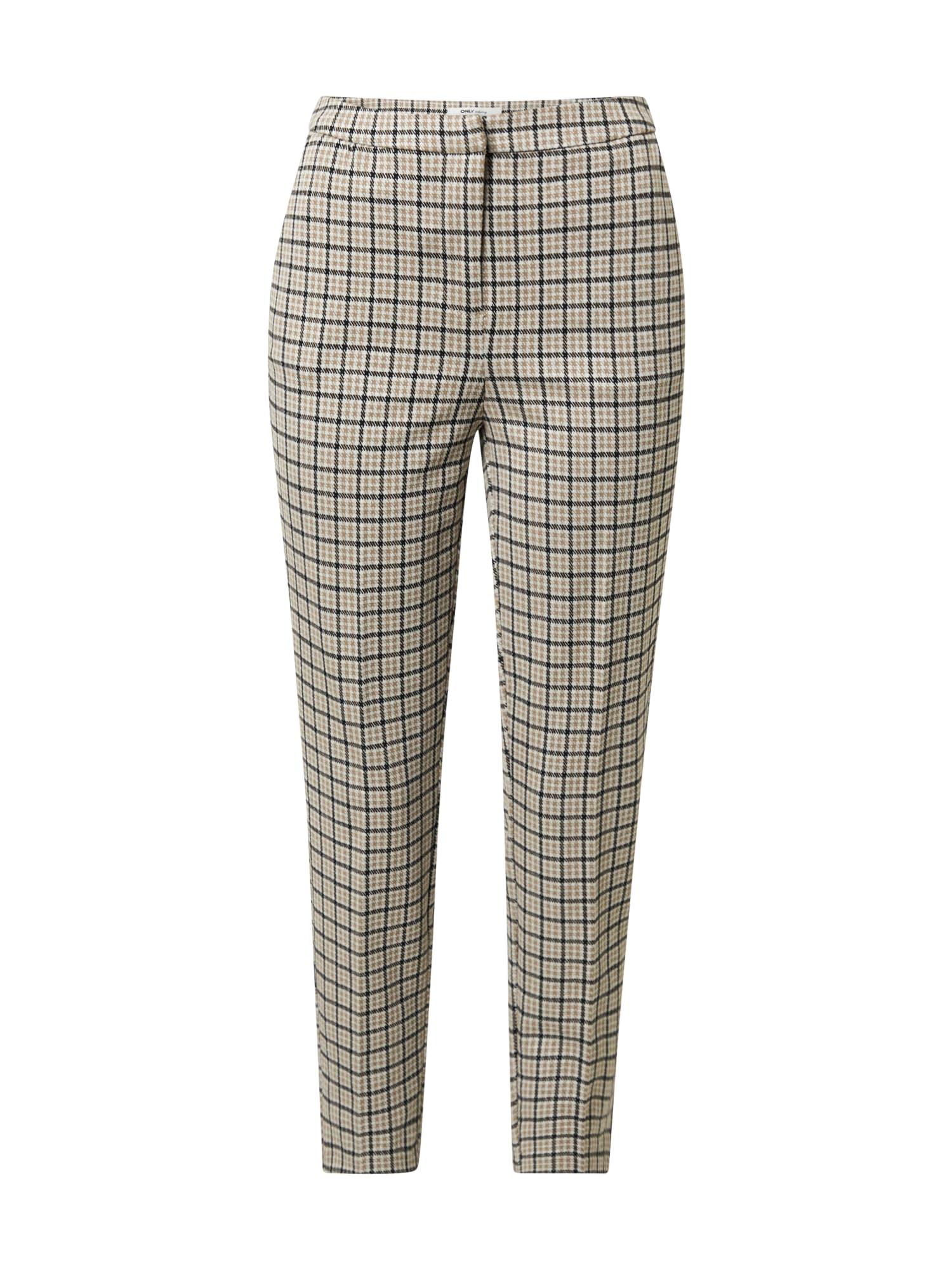ONLY Kalhoty 'LENIA-MARA'  béžová / černá / bílá