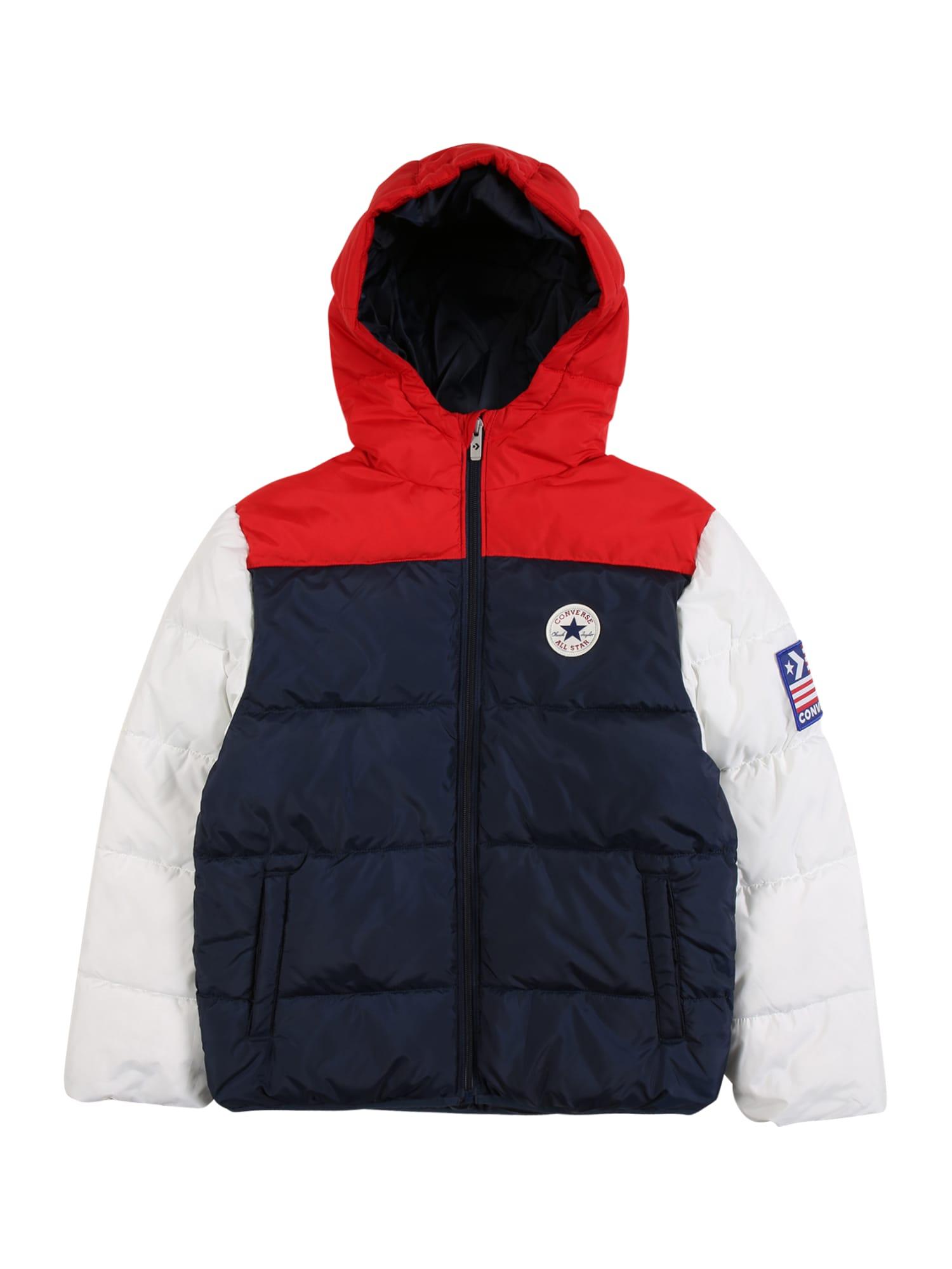 CONVERSE Zimní bunda  tmavě modrá / bílá / červená