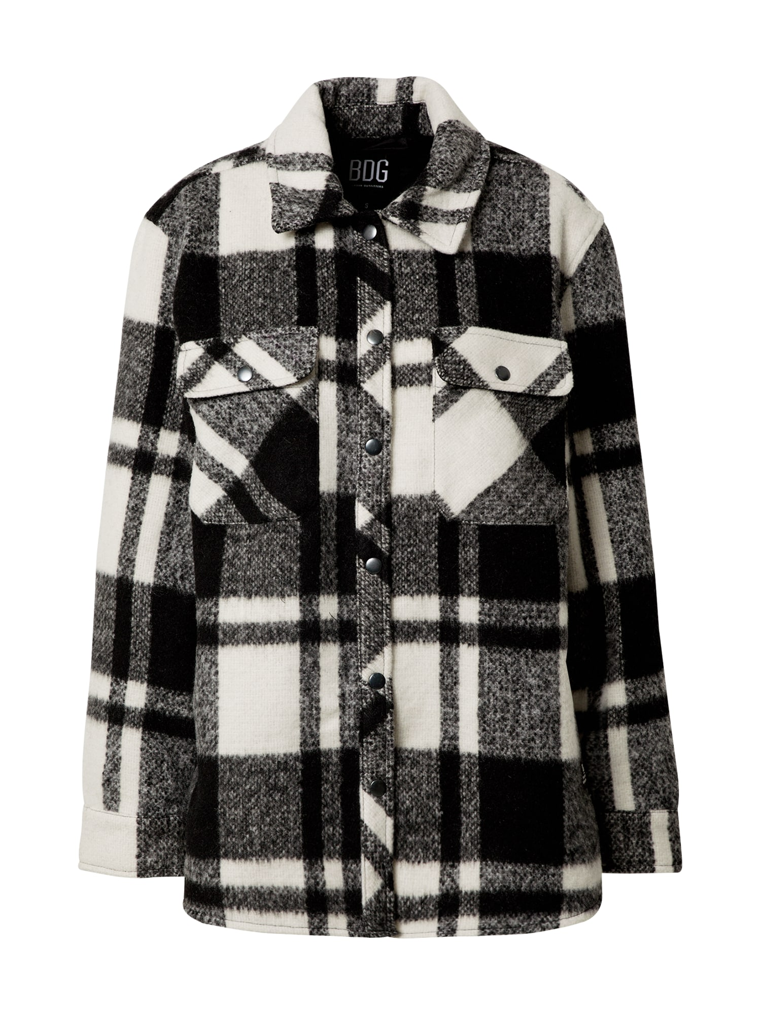BDG Urban Outfitters Přechodná bunda  bílá / černá