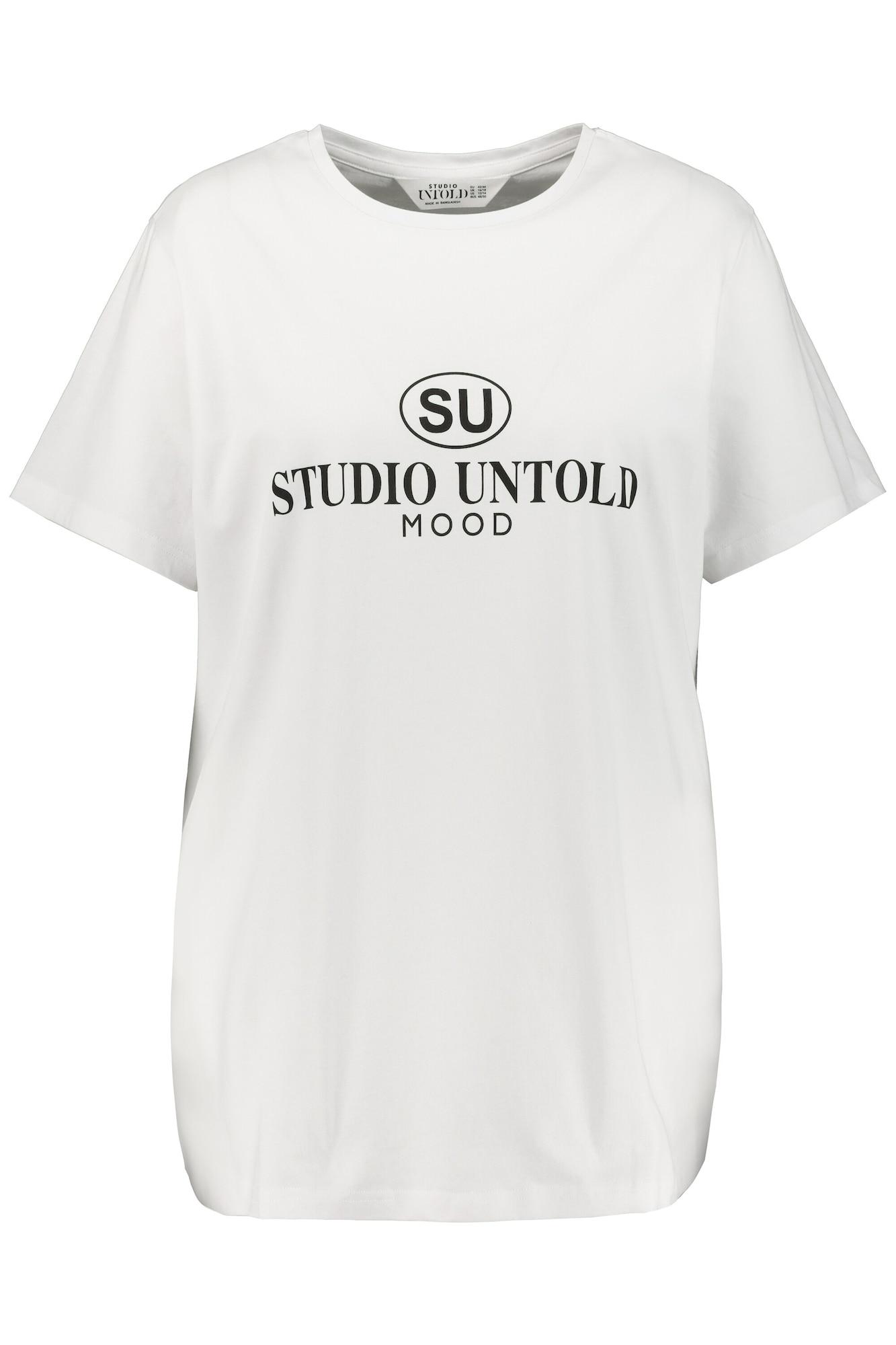 Studio Untold Marškinėliai balta / juoda