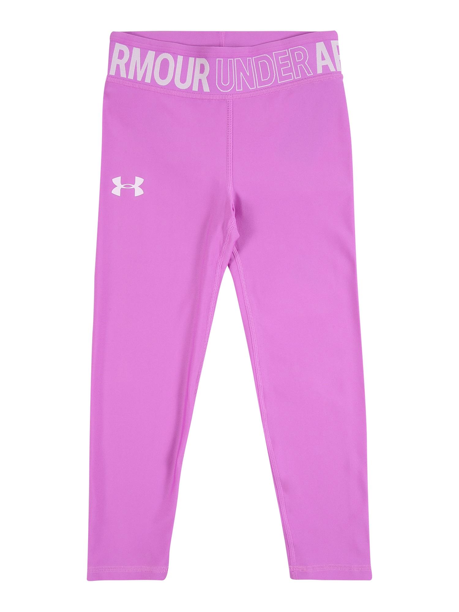 UNDER ARMOUR Sportinės kelnės purpurinė / balta