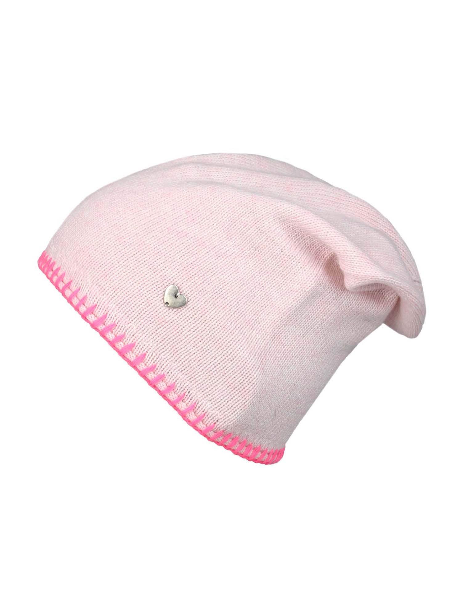 Zwillingsherz Megzta kepurė rožių spalva / rožinė