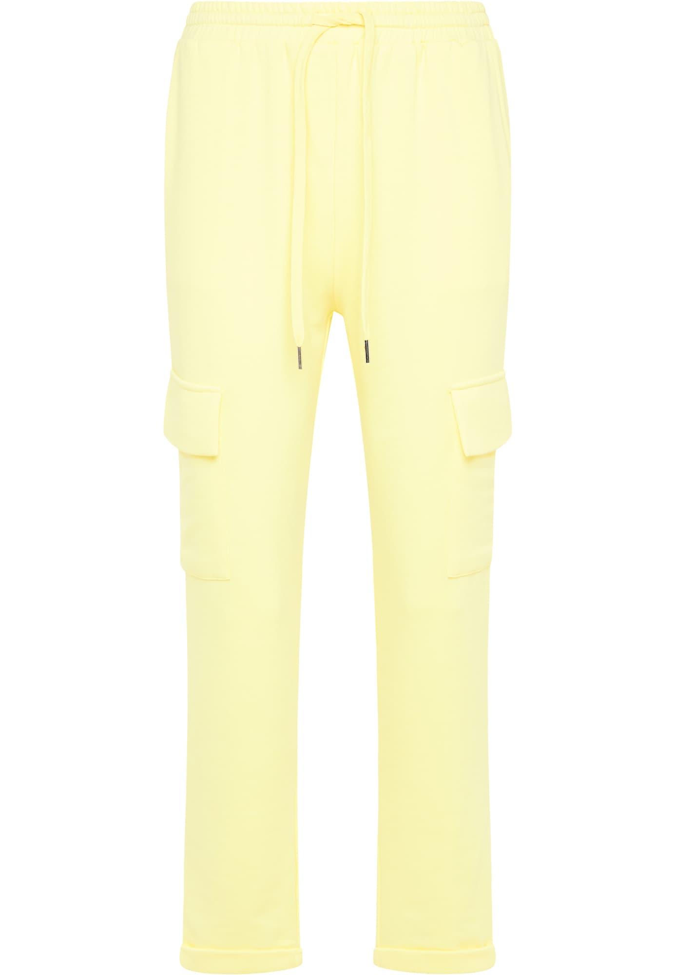 usha BLUE LABEL Laisvo stiliaus kelnės šviesiai geltona