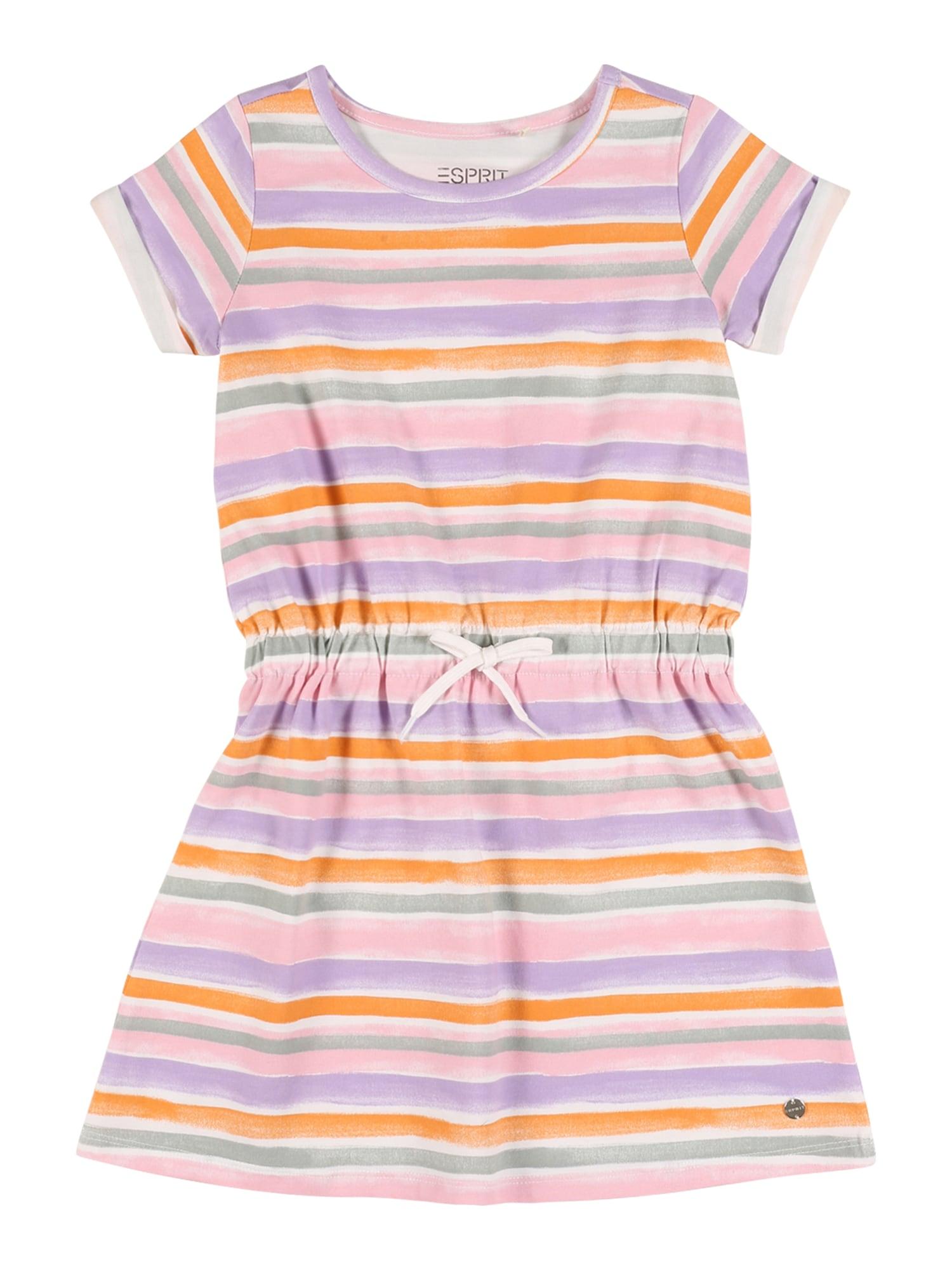 ESPRIT Suknelė balta / purpurinė / oranžinė / rožių spalva / žalia