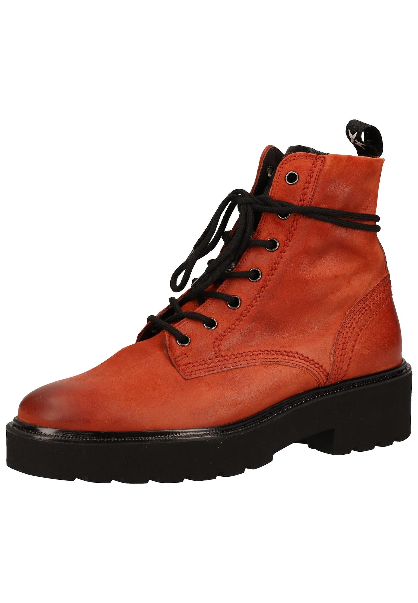 Paul Green Suvarstomieji kulkšnis dengiantys batai juoda / raudona