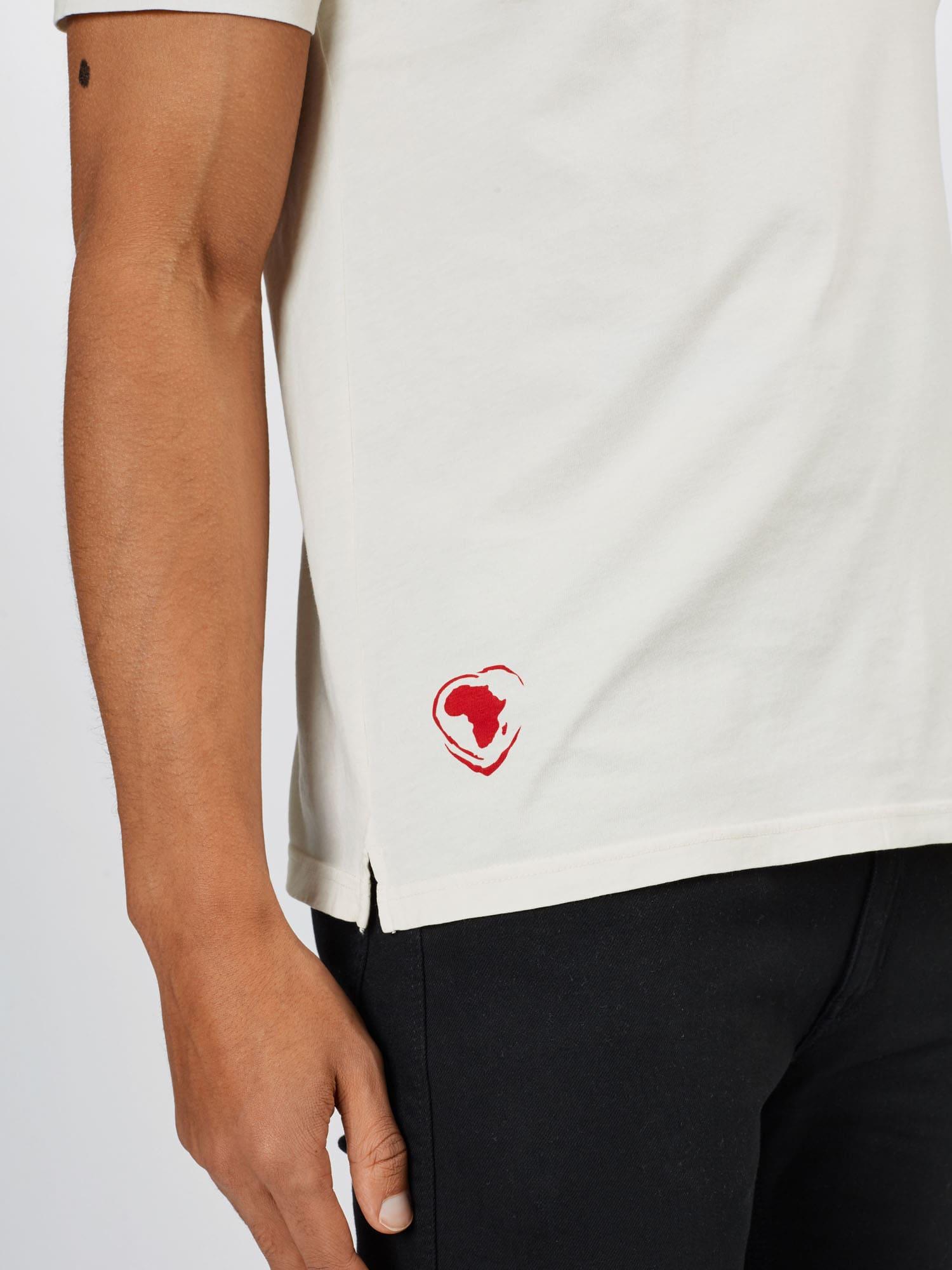 HUGO Tričko 'Dappel'  krémová / červená / tmavozelená / čierna.