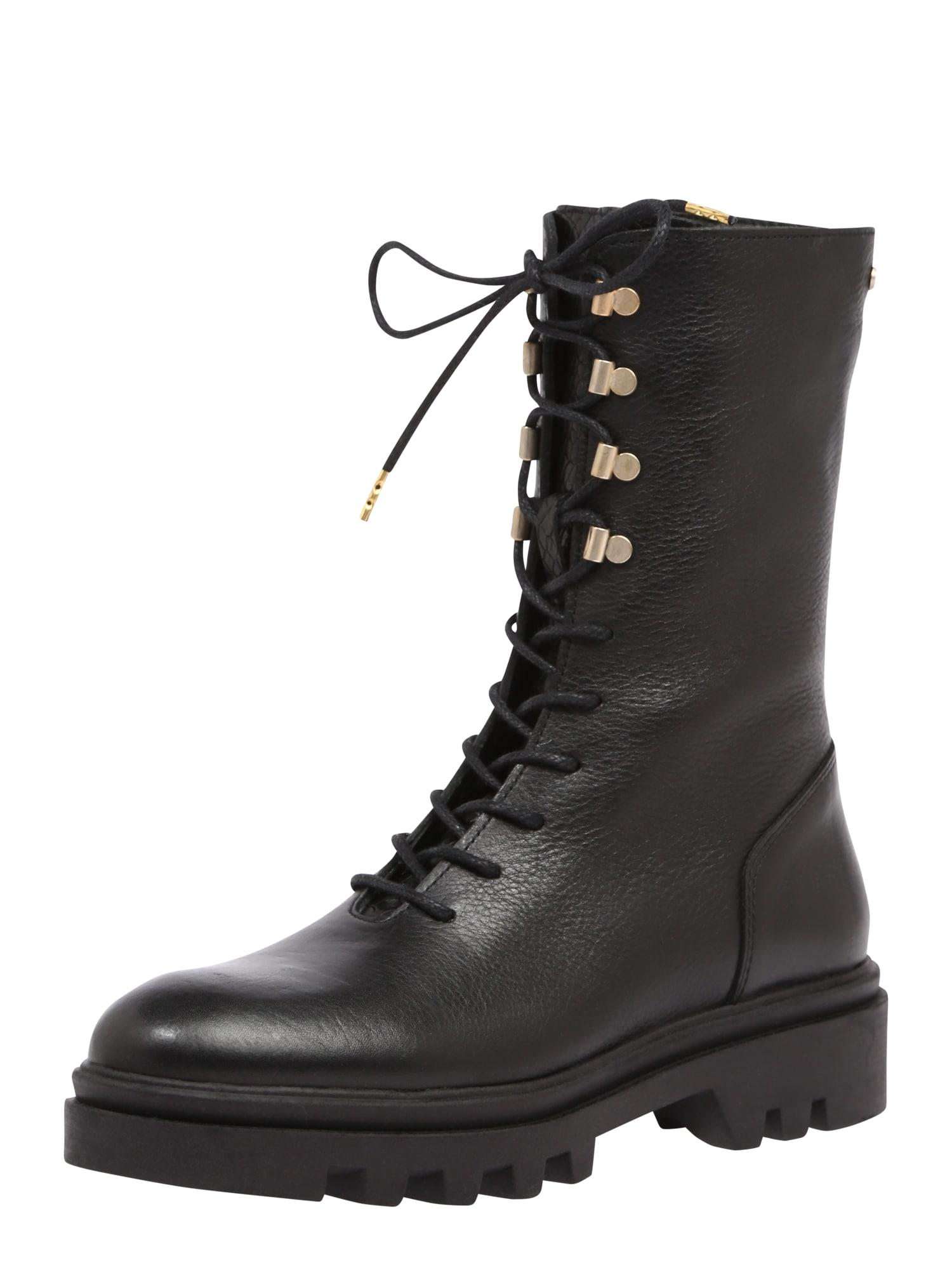 Fred de la BretoniÈre Šněrovací boty  černá