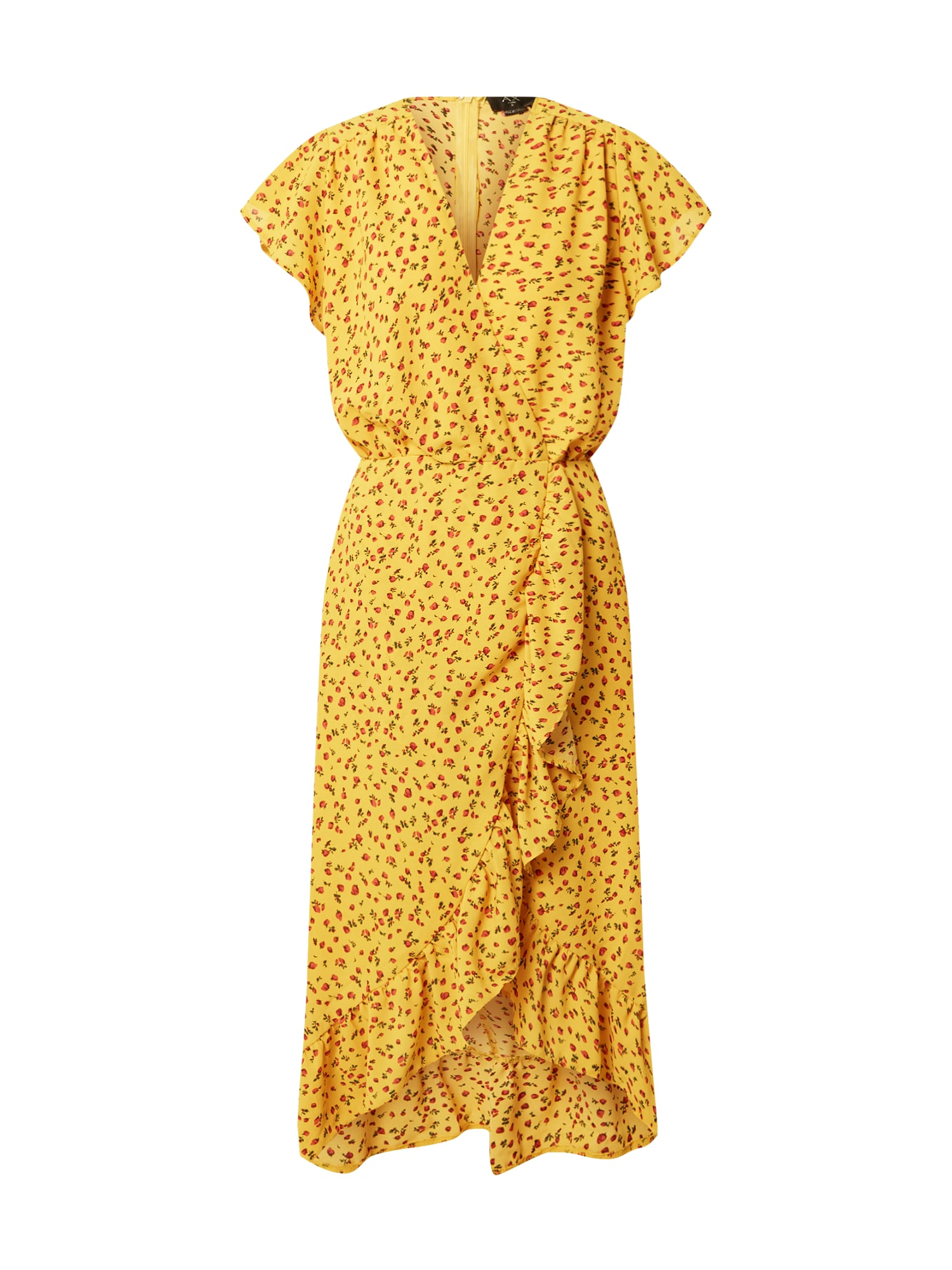 AX Paris Suknelė geltona / įdegio spalva / raudona