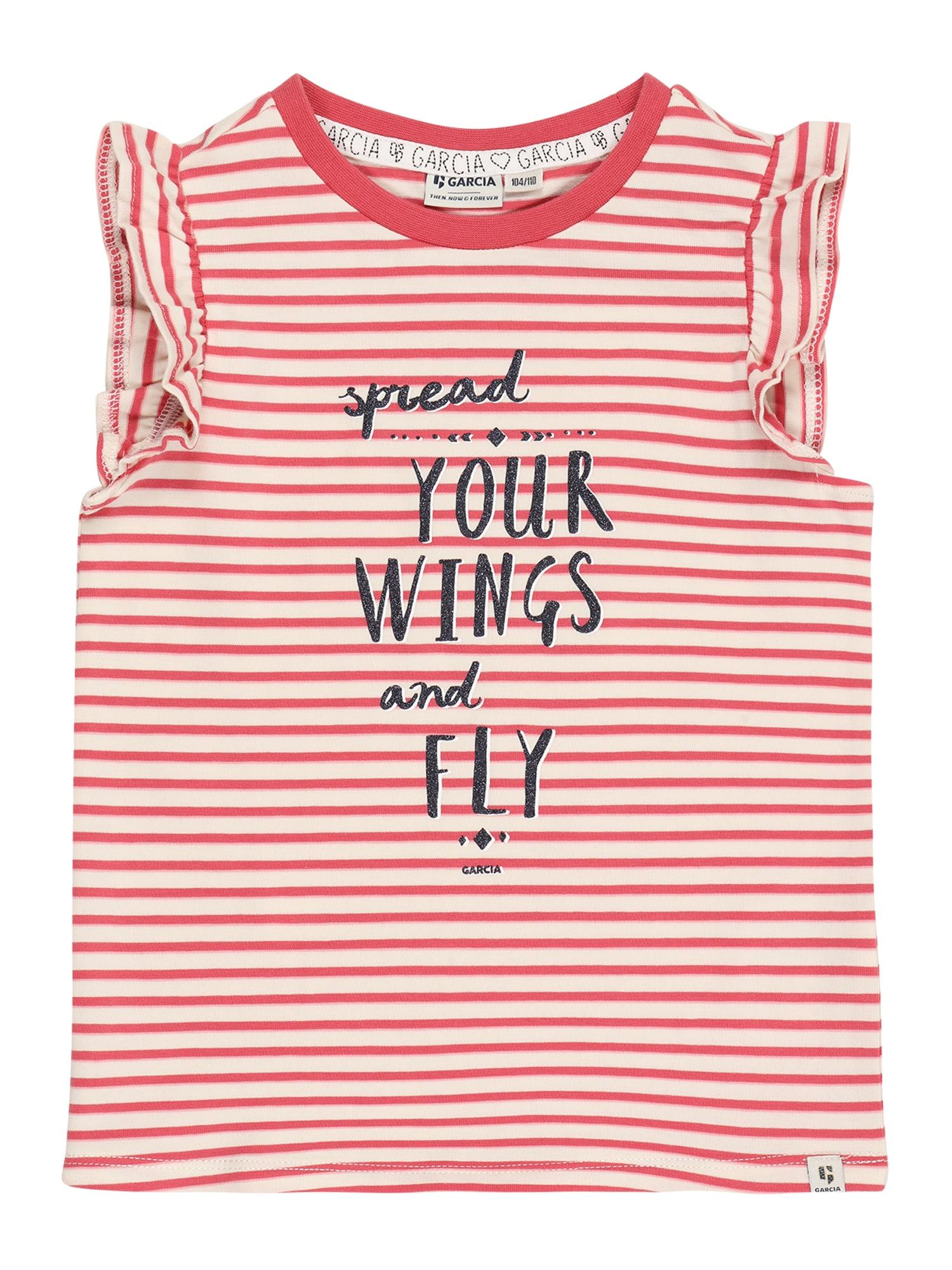 GARCIA Marškinėliai rožinė / natūrali balta / nakties mėlyna