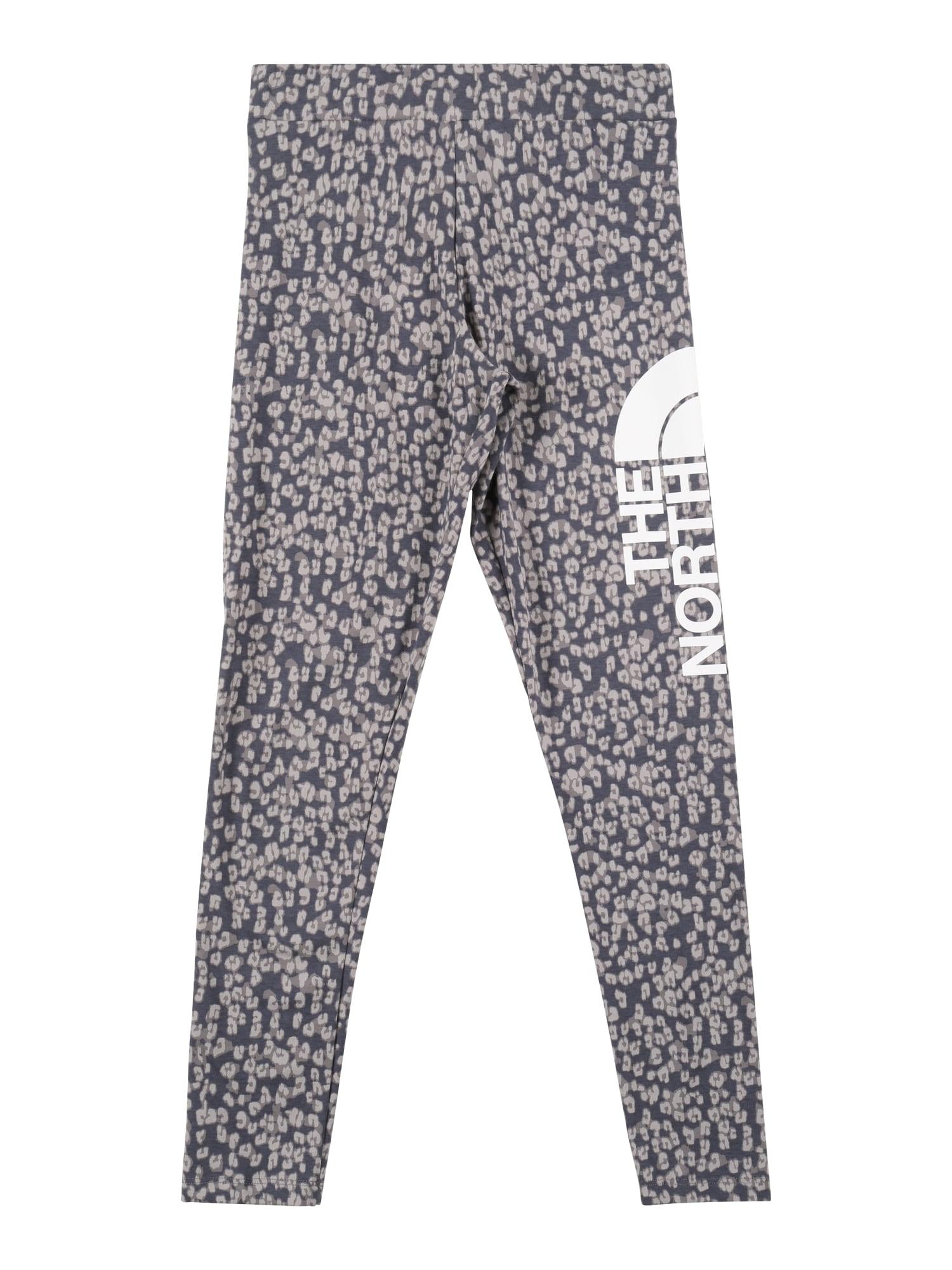 THE NORTH FACE Sportovní kalhoty  šedá / bílá