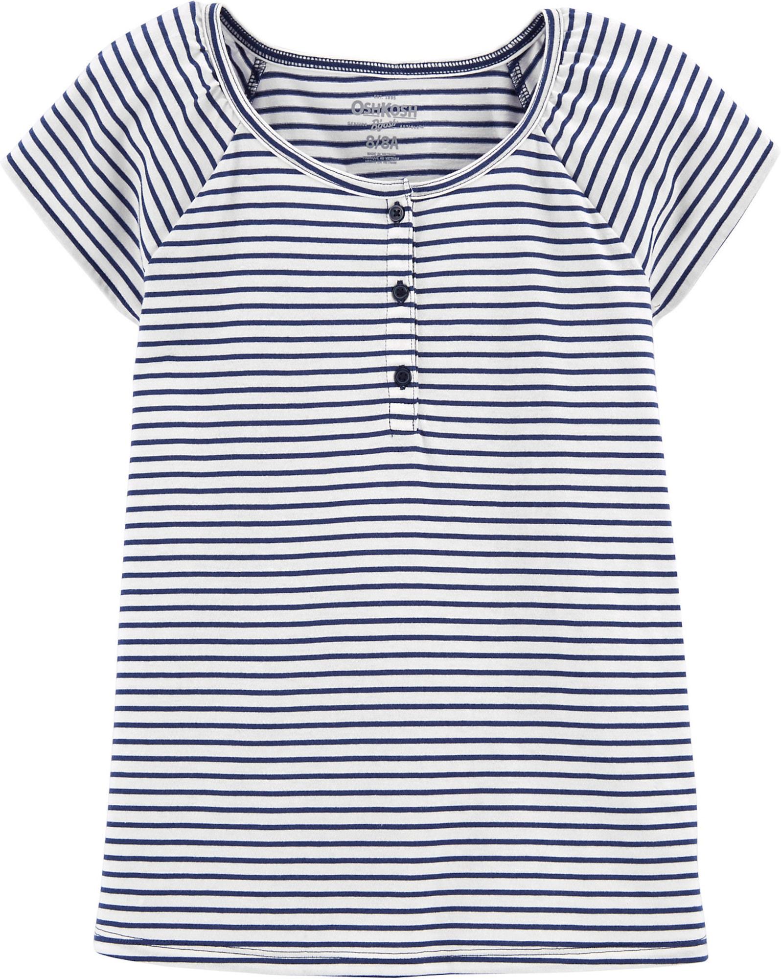OshKosh Marškinėliai balta / tamsiai mėlyna jūros spalva